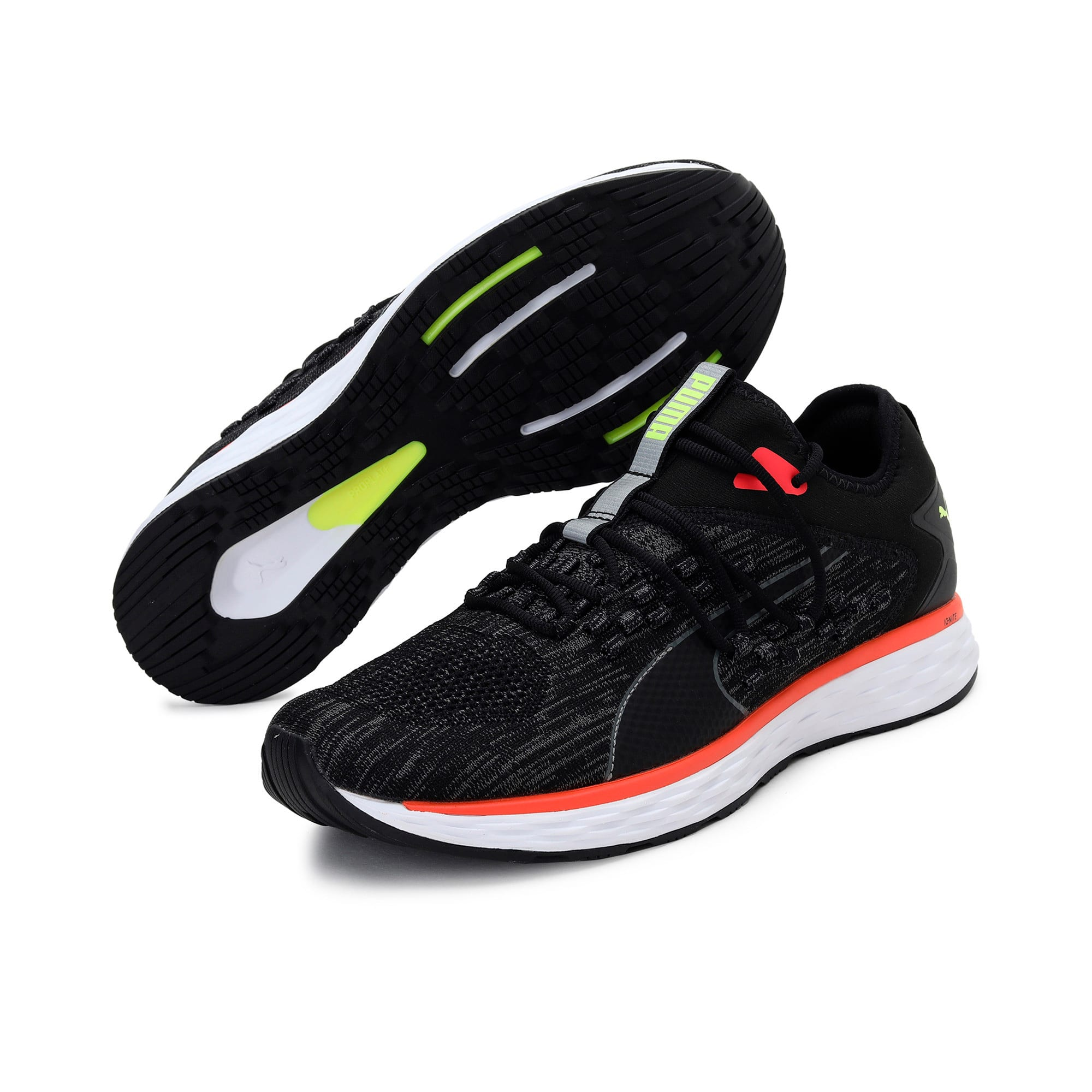 Thumbnail 4 of SPEED FUSEFIT Men's Running Shoes, Puma Black-Nrgy Red, medium-IND