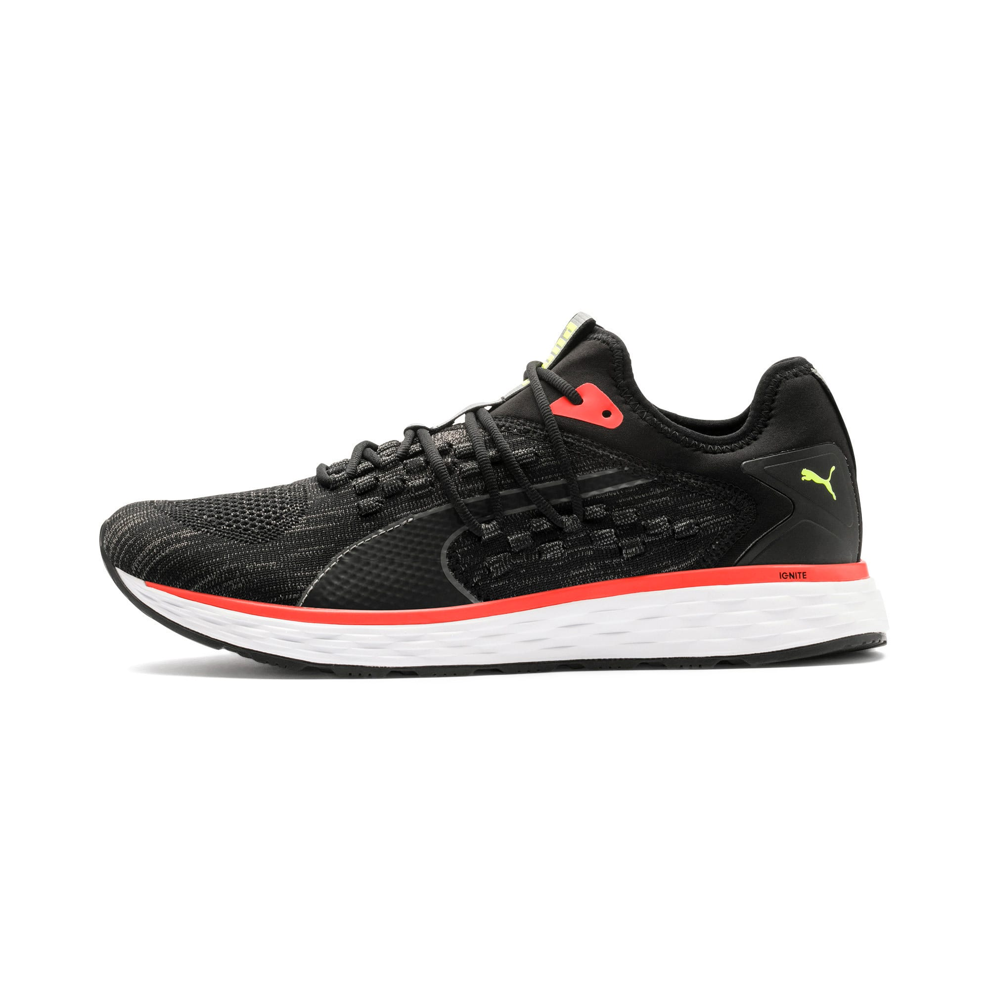 Thumbnail 1 of SPEED FUSEFIT Men's Running Shoes, Puma Black-Nrgy Red, medium-IND