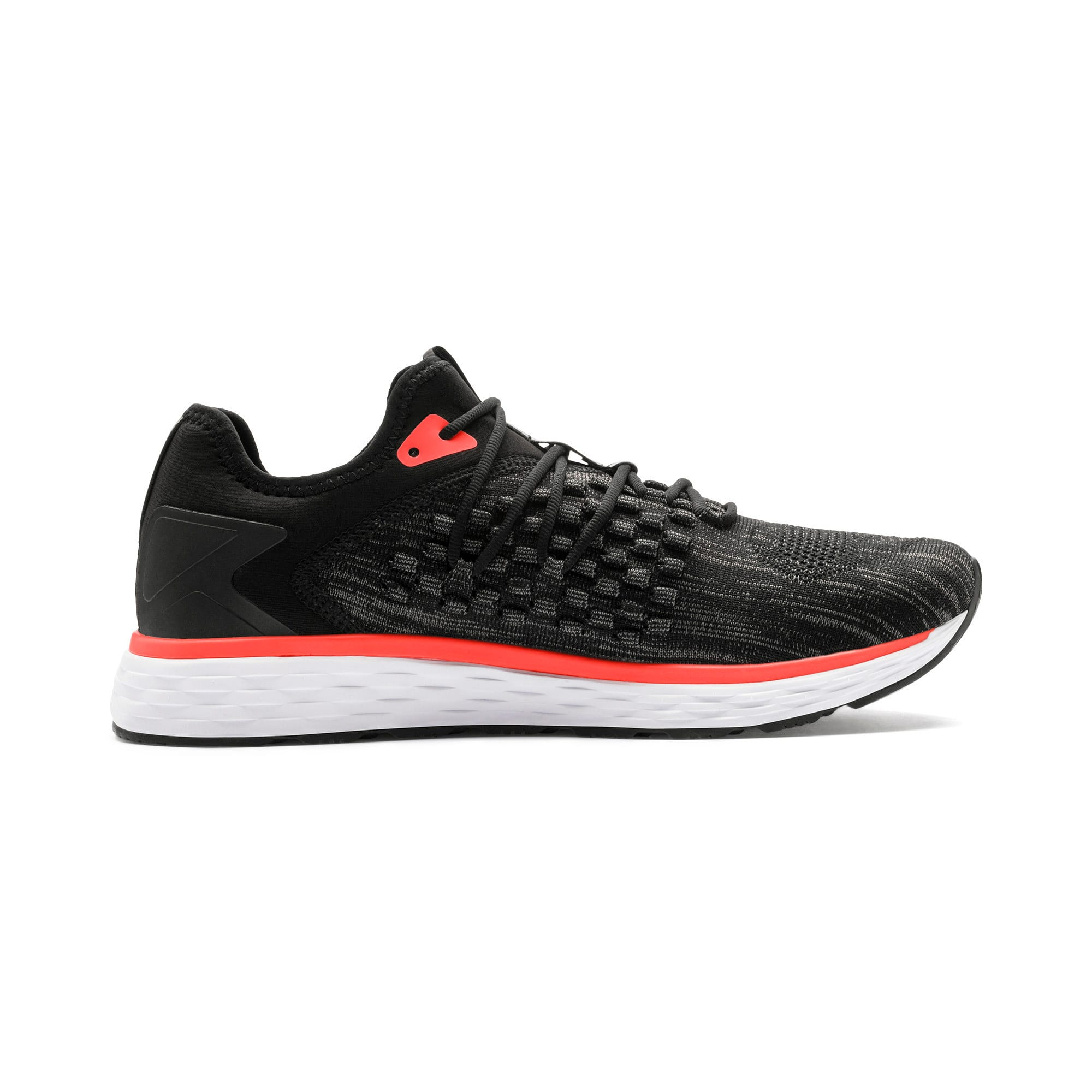 Thumbnail 7 of SPEED FUSEFIT Men's Running Shoes, Puma Black-Nrgy Red, medium-IND