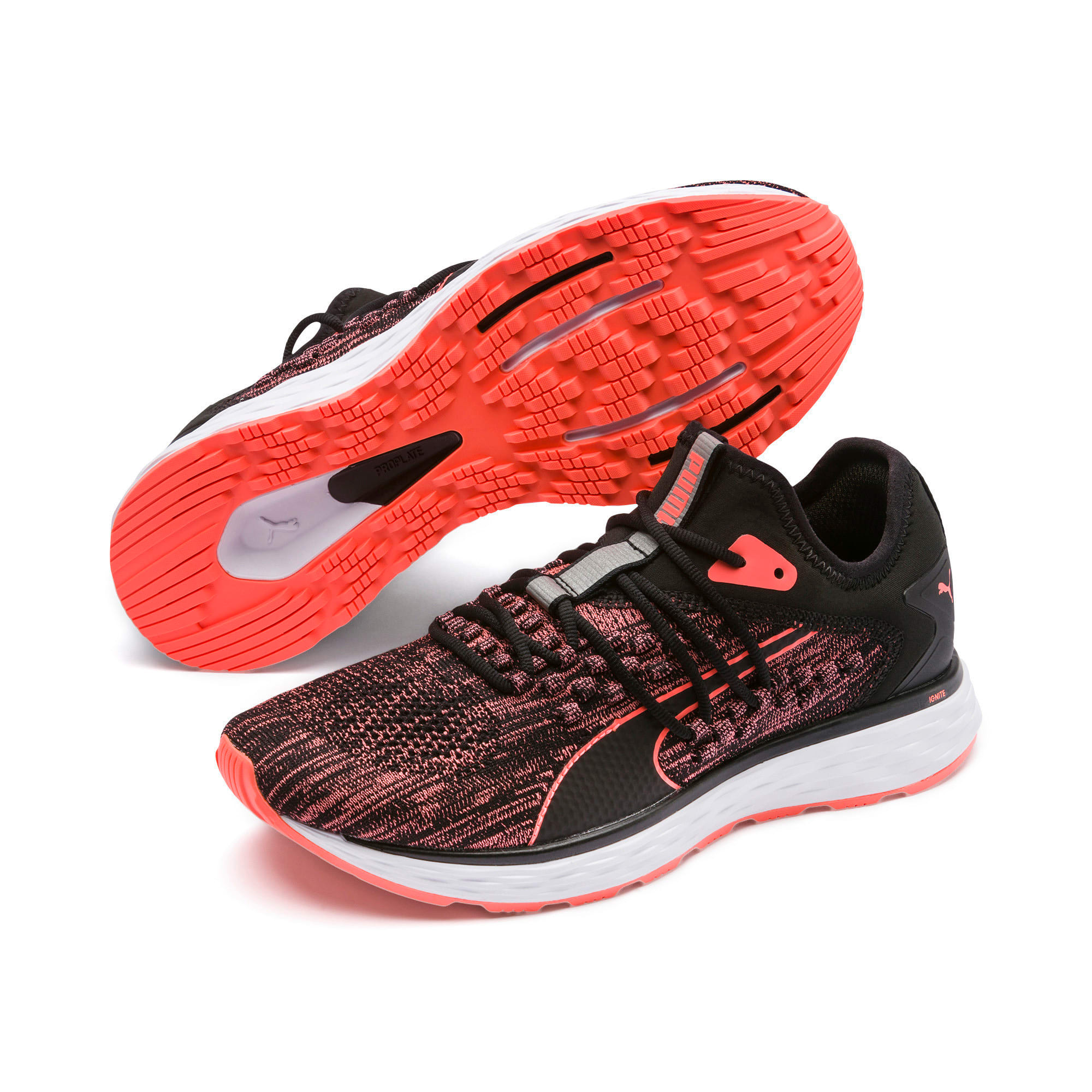 Thumbnail 3 of SPEED FUSEFIT Women's Running Shoes, Puma Black-Fluo Peach, medium-IND