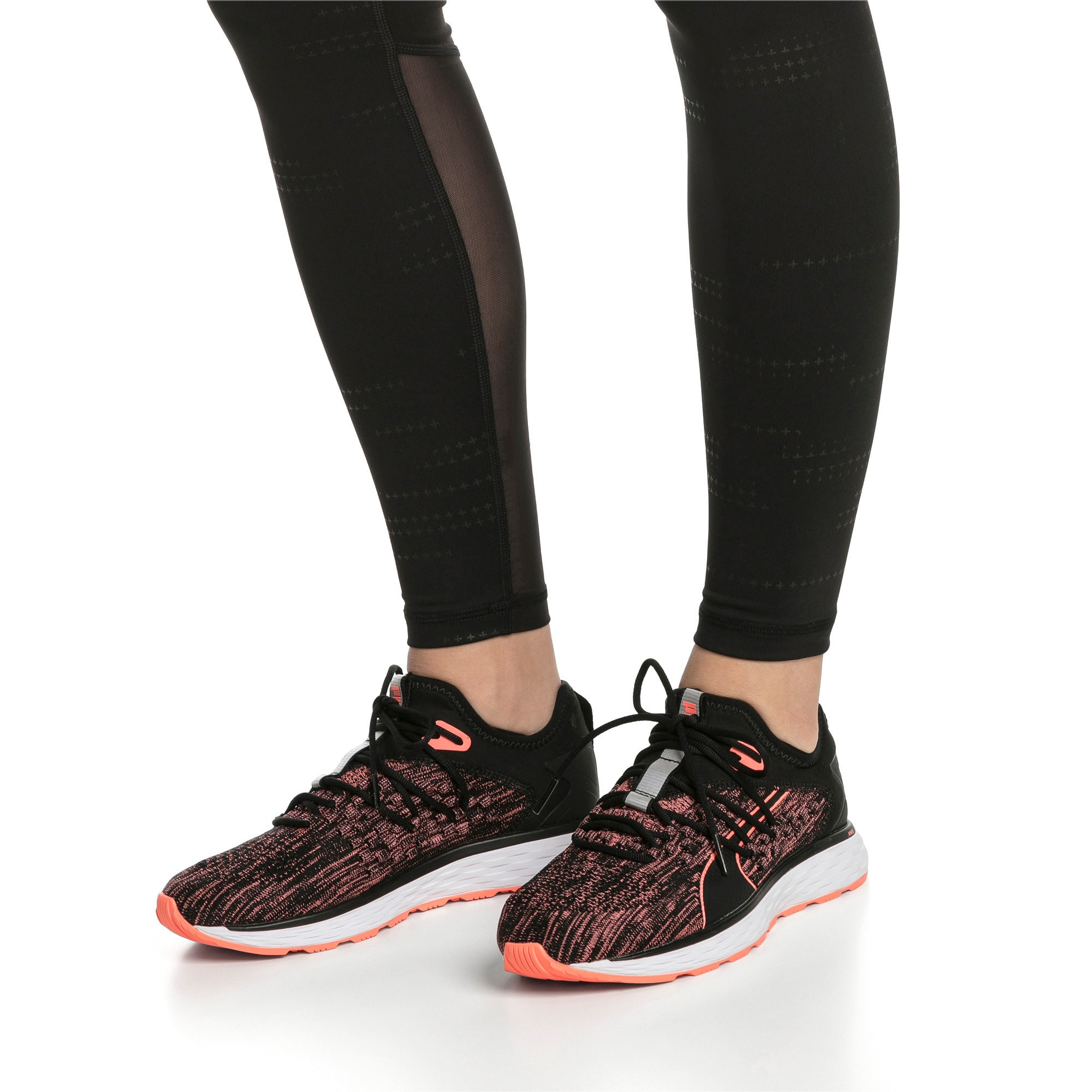 Thumbnail 2 of SPEED FUSEFIT Women's Running Shoes, Puma Black-Fluo Peach, medium-IND