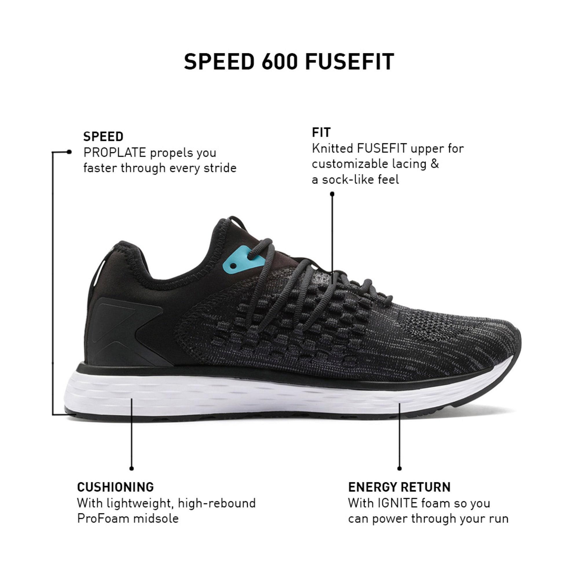 Thumbnail 9 of SPEED FUSEFIT Women's Running Shoes, Puma Black-Milky Blue, medium-IND