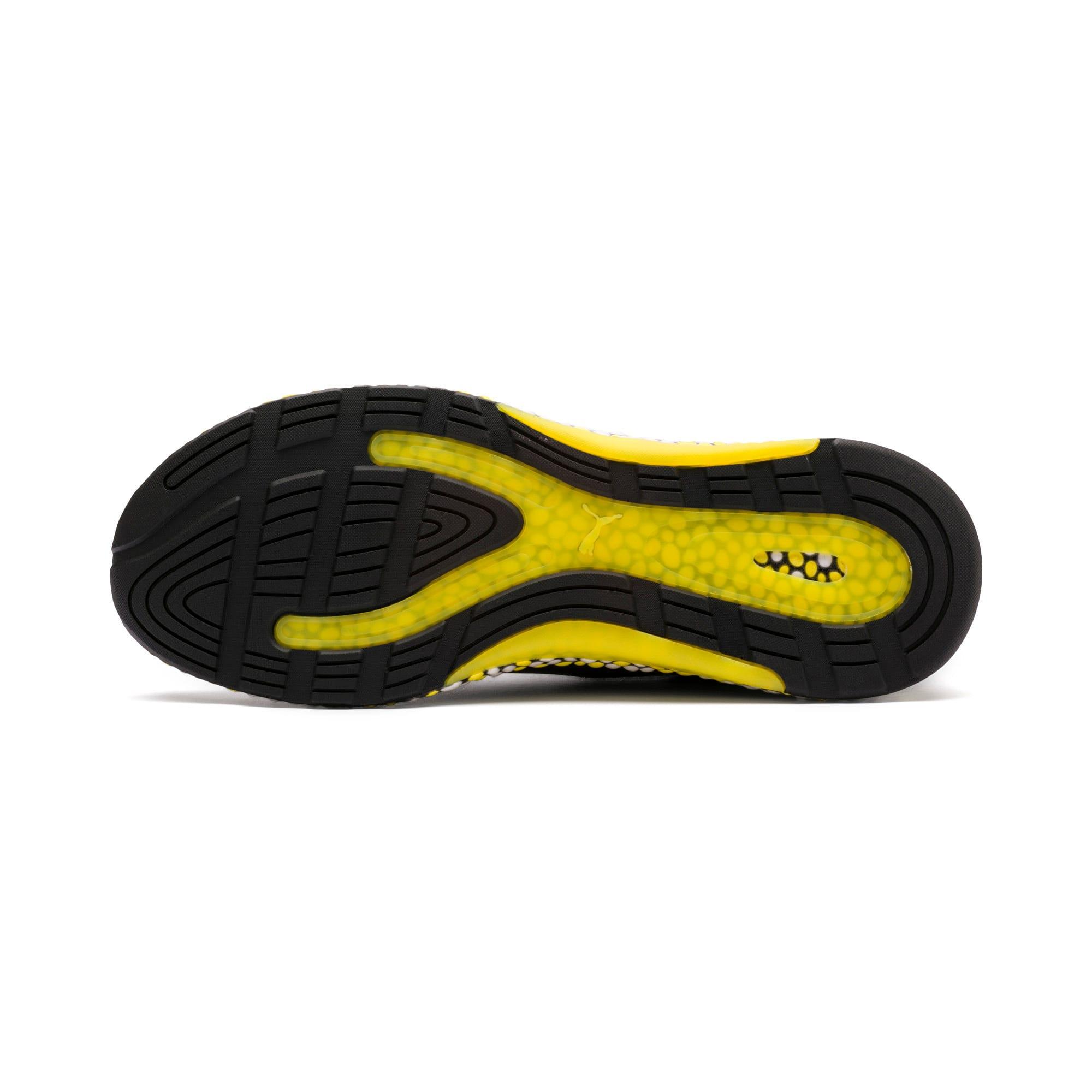 Thumbnail 4 of Hybrid Runner hardloopschoenen voor heren, Black-White-Blazing Yellow, medium
