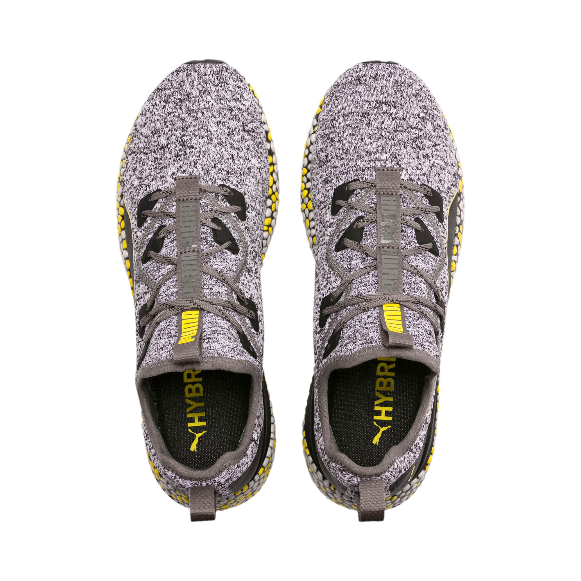 Thumbnail 6 of Hybrid Runner hardloopschoenen voor heren, Black-White-Blazing Yellow, medium