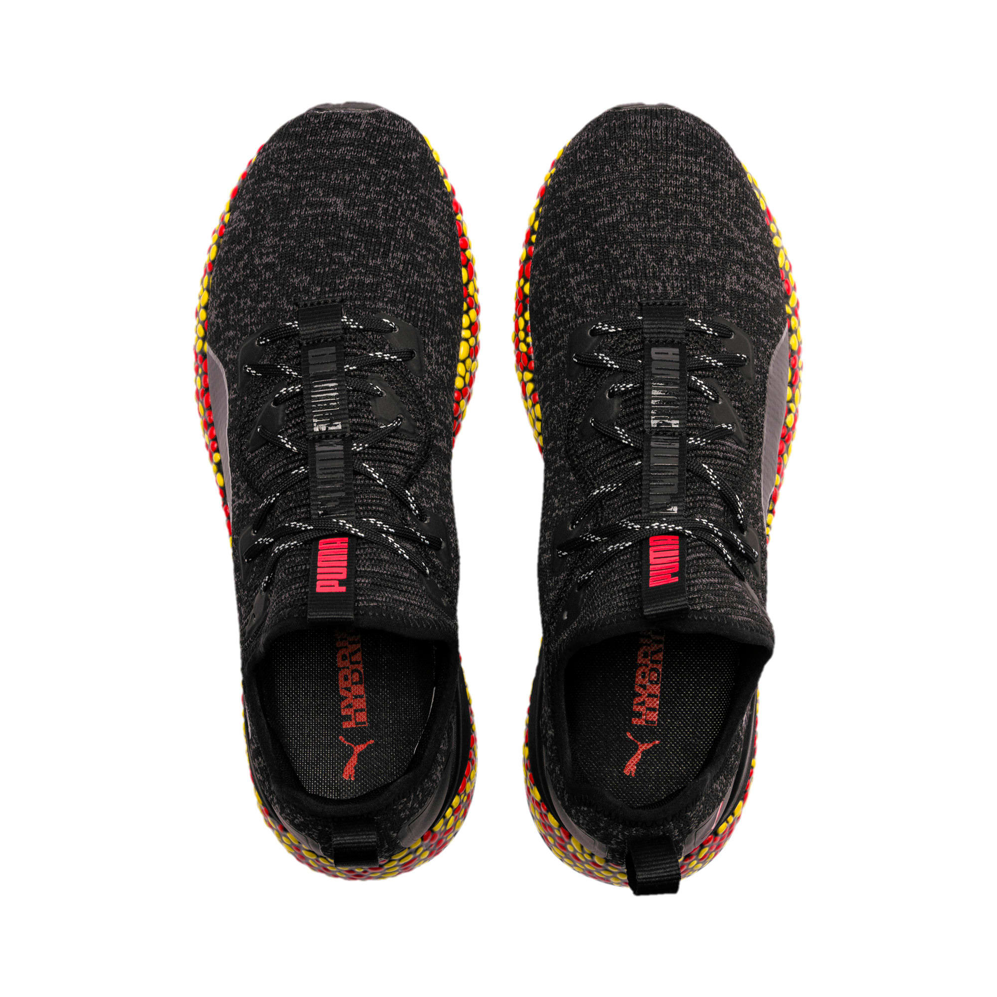 Thumbnail 6 of Hybrid Runner Men's Running Shoes, Black-Red-Blazing Yellow, medium