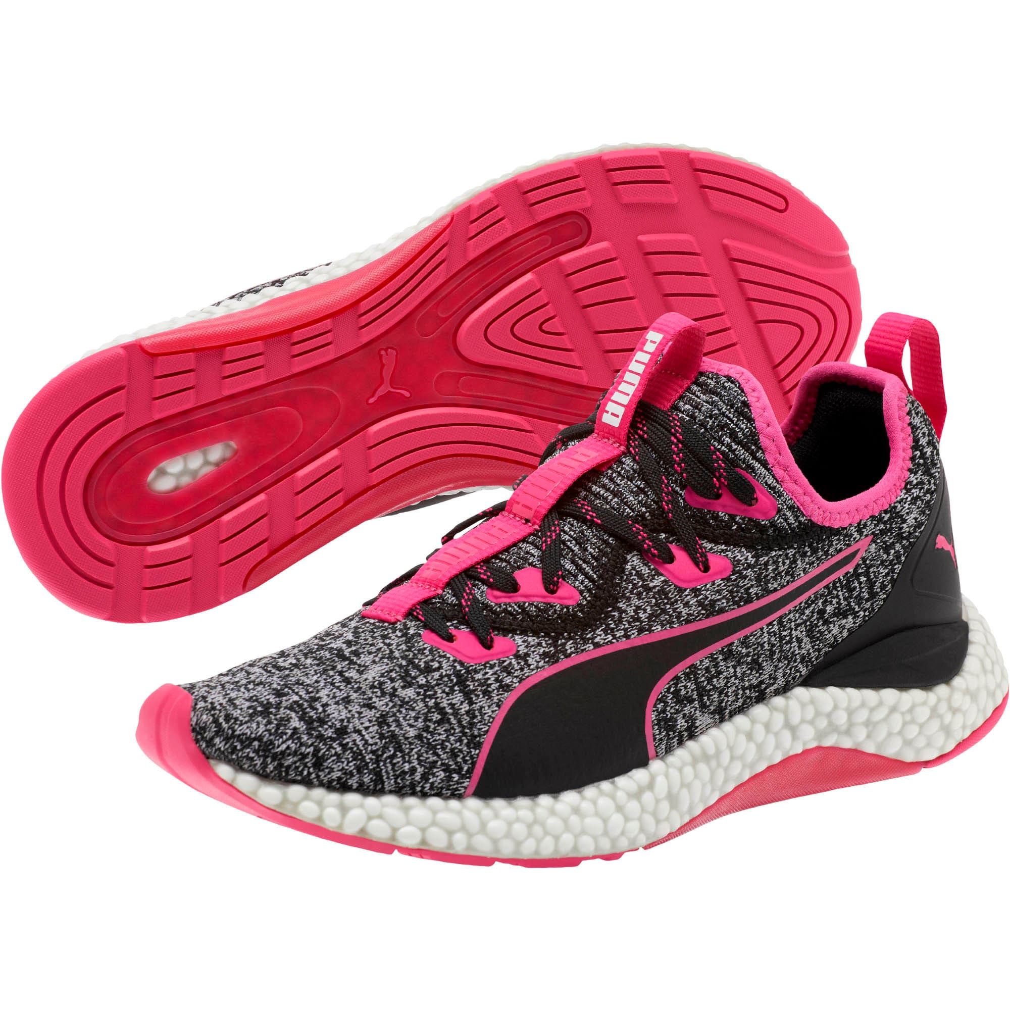 Thumbnail 2 of HYBRID Runner Women's Running Shoes, Puma Black-Fuchsia Purple, medium