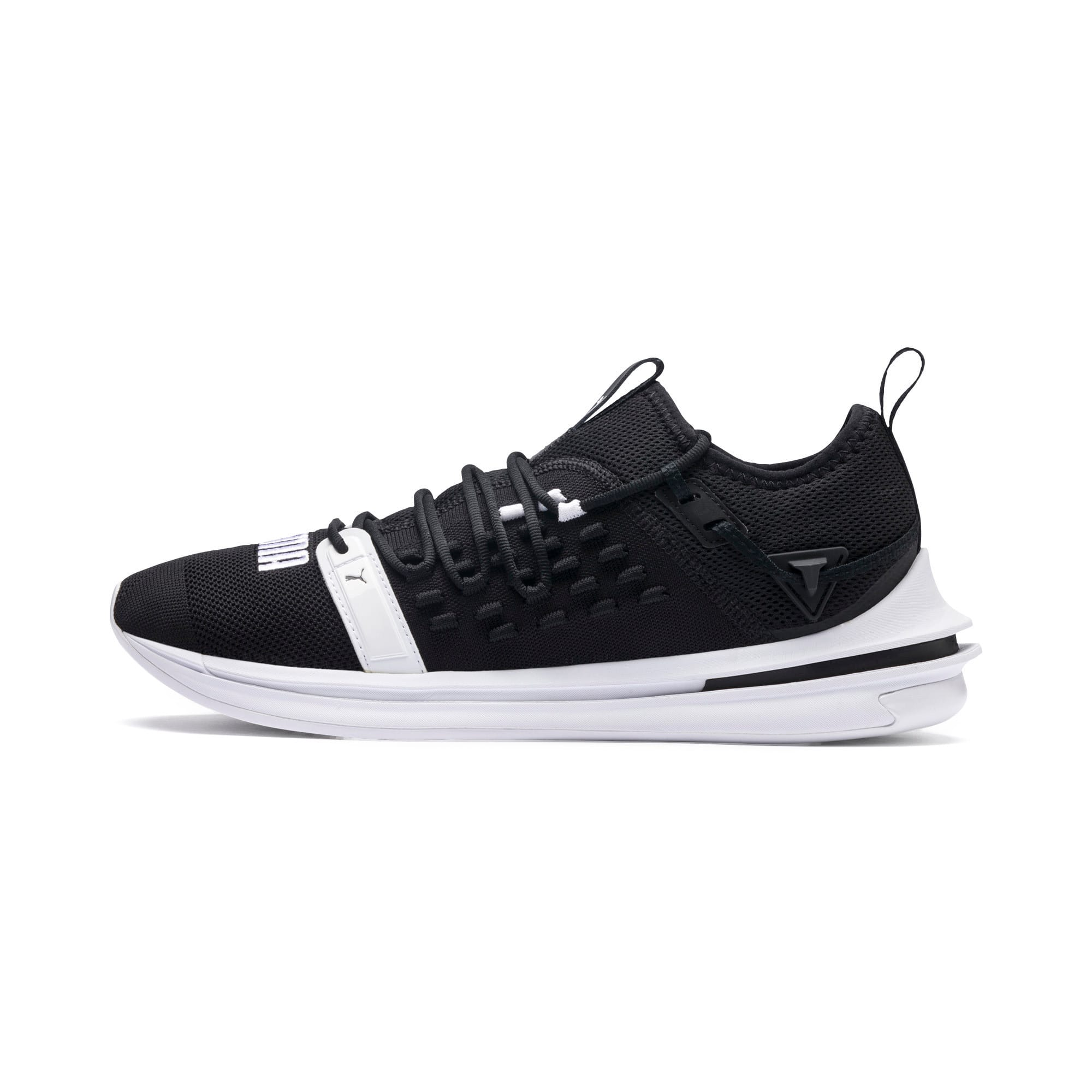 Thumbnail 1 of IGNITE Limitless SR FUSEFIT Running Shoes, Puma Black-Puma White, medium-IND