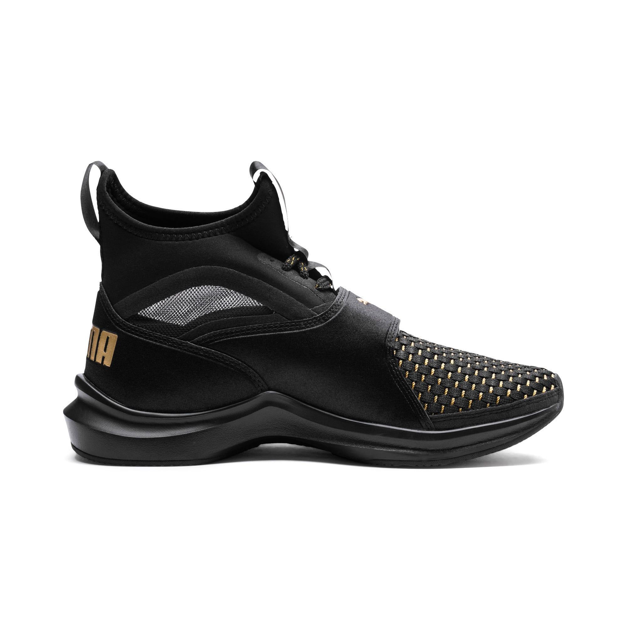 Thumbnail 4 of Phenom Varsity Women's Training Shoes, Puma Black-Puma Black, medium-IND