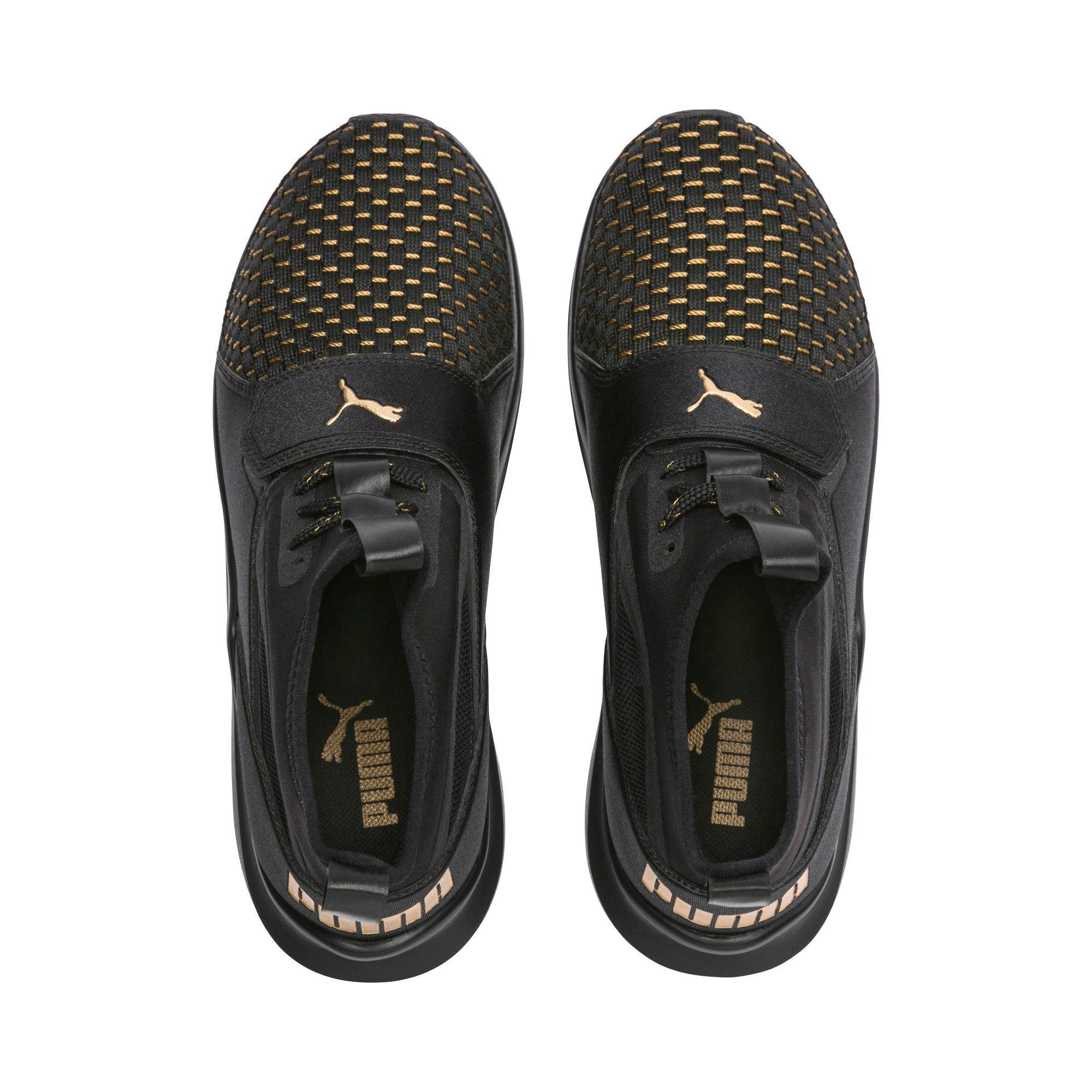 Thumbnail 3 of Phenom Varsity Women's Training Shoes, Puma Black-Puma Black, medium-IND