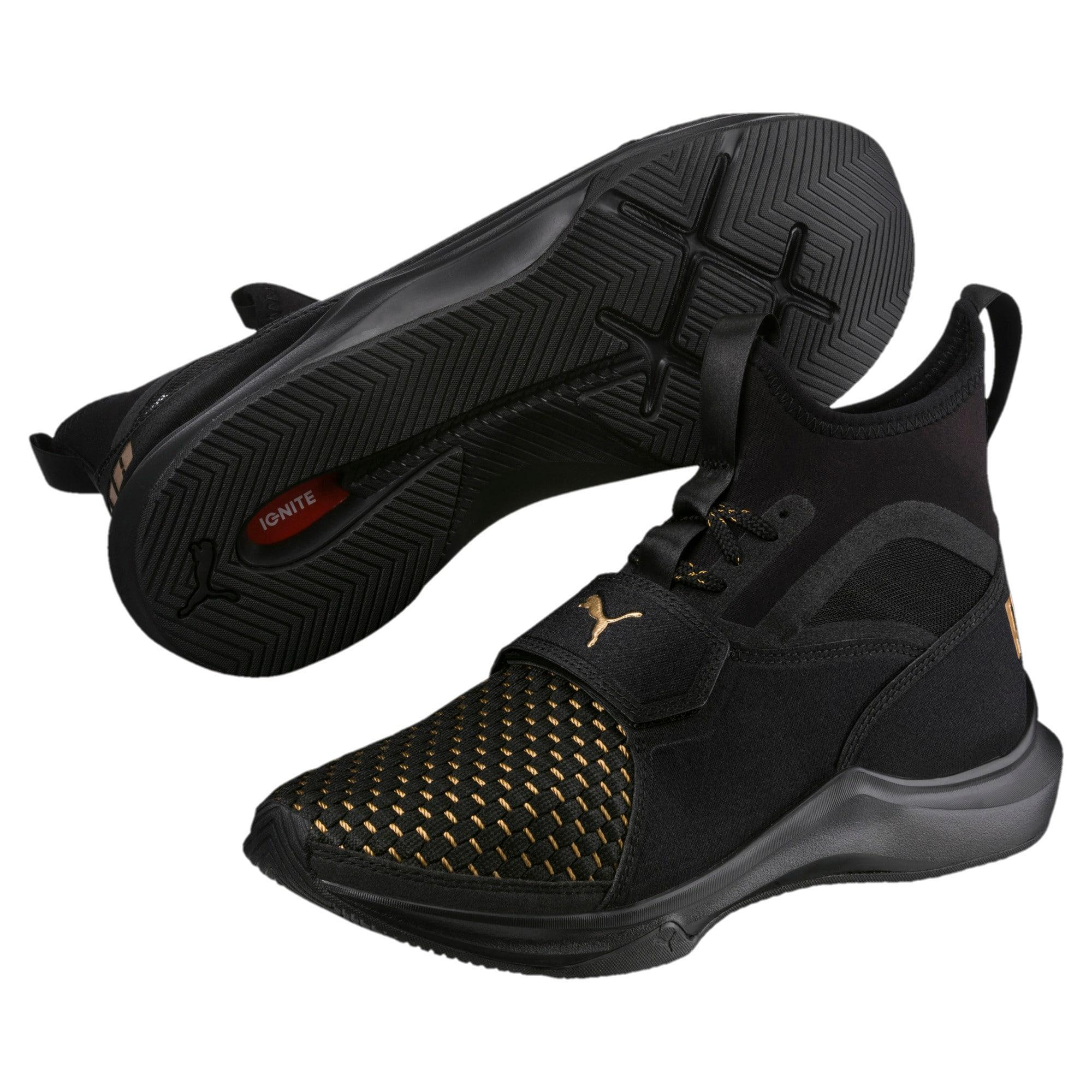 Thumbnail 6 of Phenom Varsity Women's Training Shoes, Puma Black-Puma Black, medium-IND