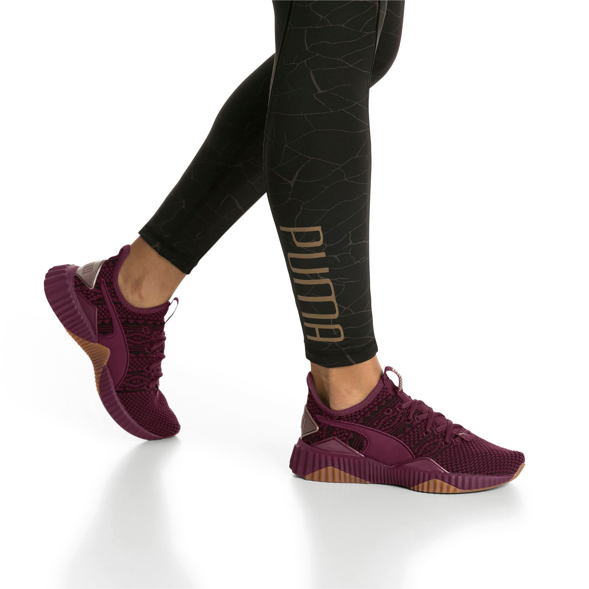 Thumbnail 8 of Defy Luxe Women's Trainers, Fig-Metallic Ash, medium-IND