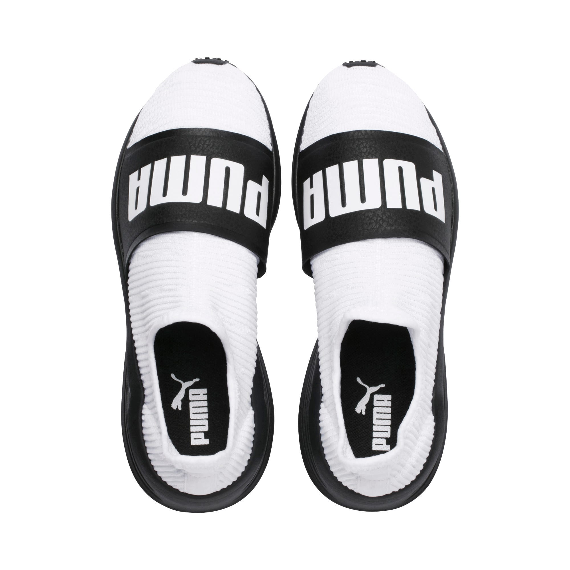 Thumbnail 6 of Fierce Slide Women's Trainers, Puma White-Puma Black, medium-IND