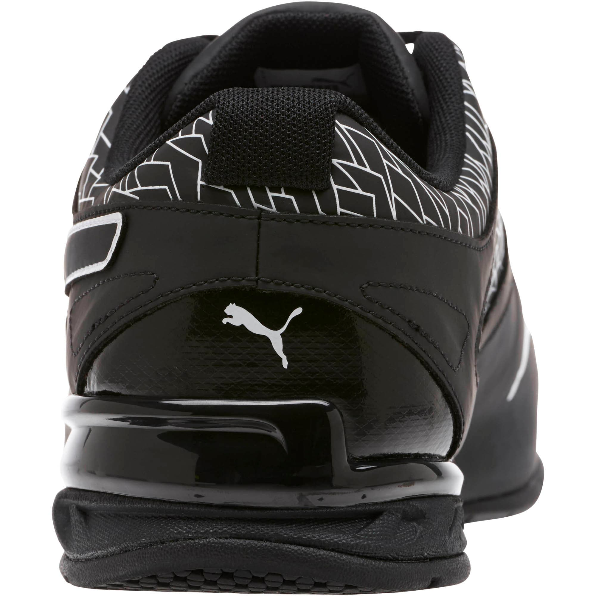 Thumbnail 4 of Tazon 6 Fracture FM Wide Men's Sneakers, Puma Black-Puma Black, medium