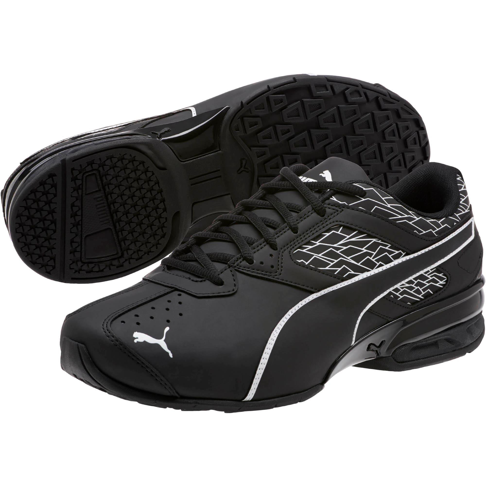 Thumbnail 2 of Tazon 6 Fracture FM Wide Men's Sneakers, Puma Black-Puma Black, medium