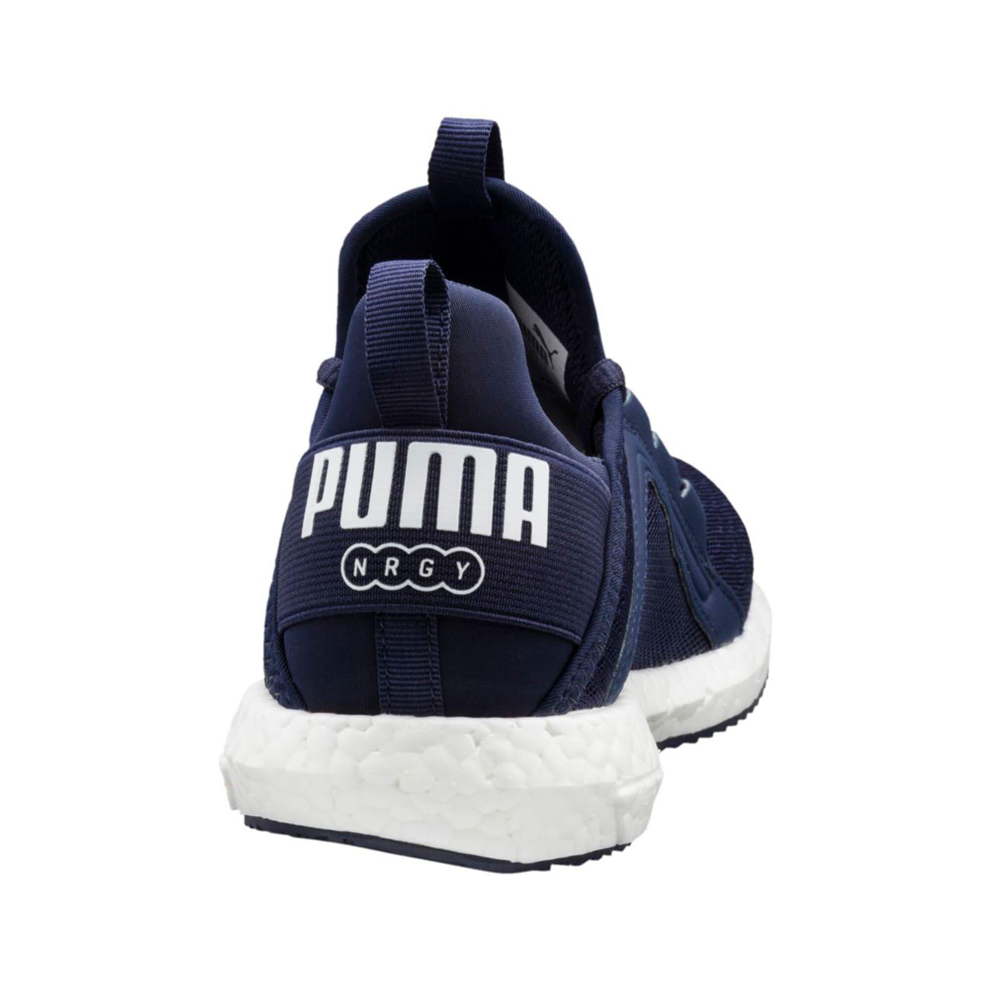Thumbnail 4 of Mega NRGY Jr Trainers, Peacoat-Puma White, medium-IND