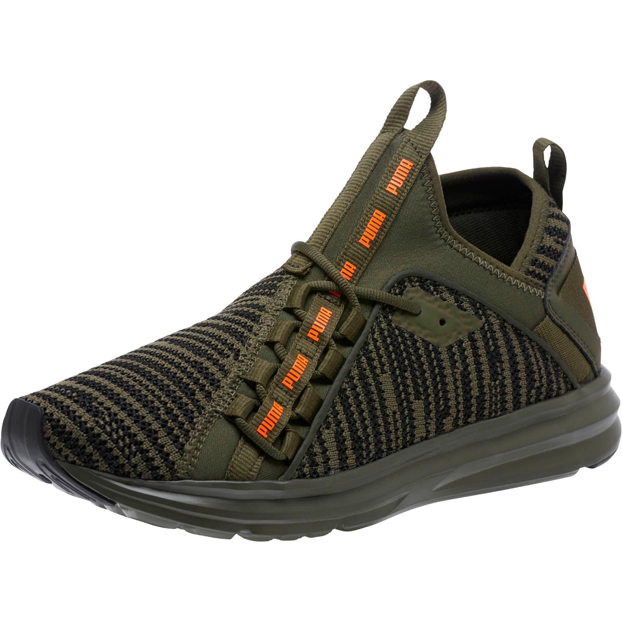 Thumbnail 1 of Enzo Peak Men's Sneakers, Forest Night-Black-Orange, medium