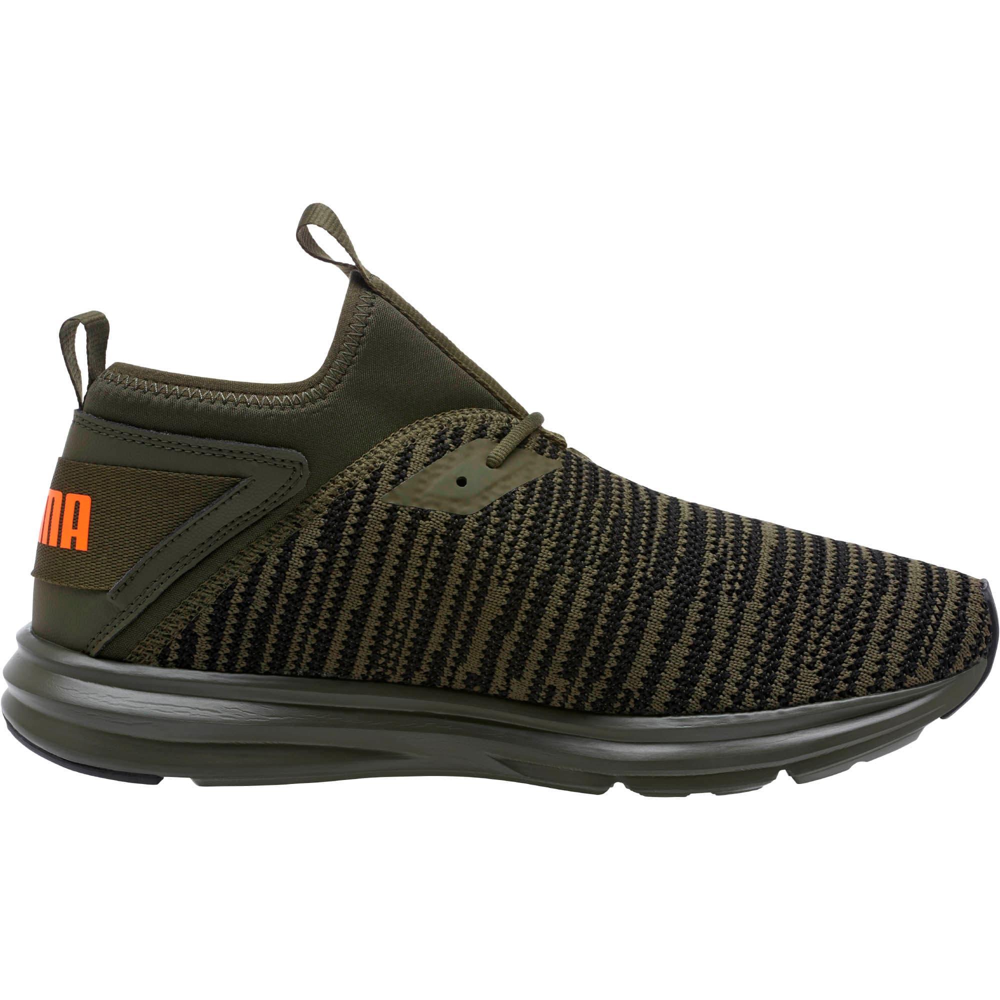 Thumbnail 3 of Enzo Peak Men's Sneakers, Forest Night-Black-Orange, medium