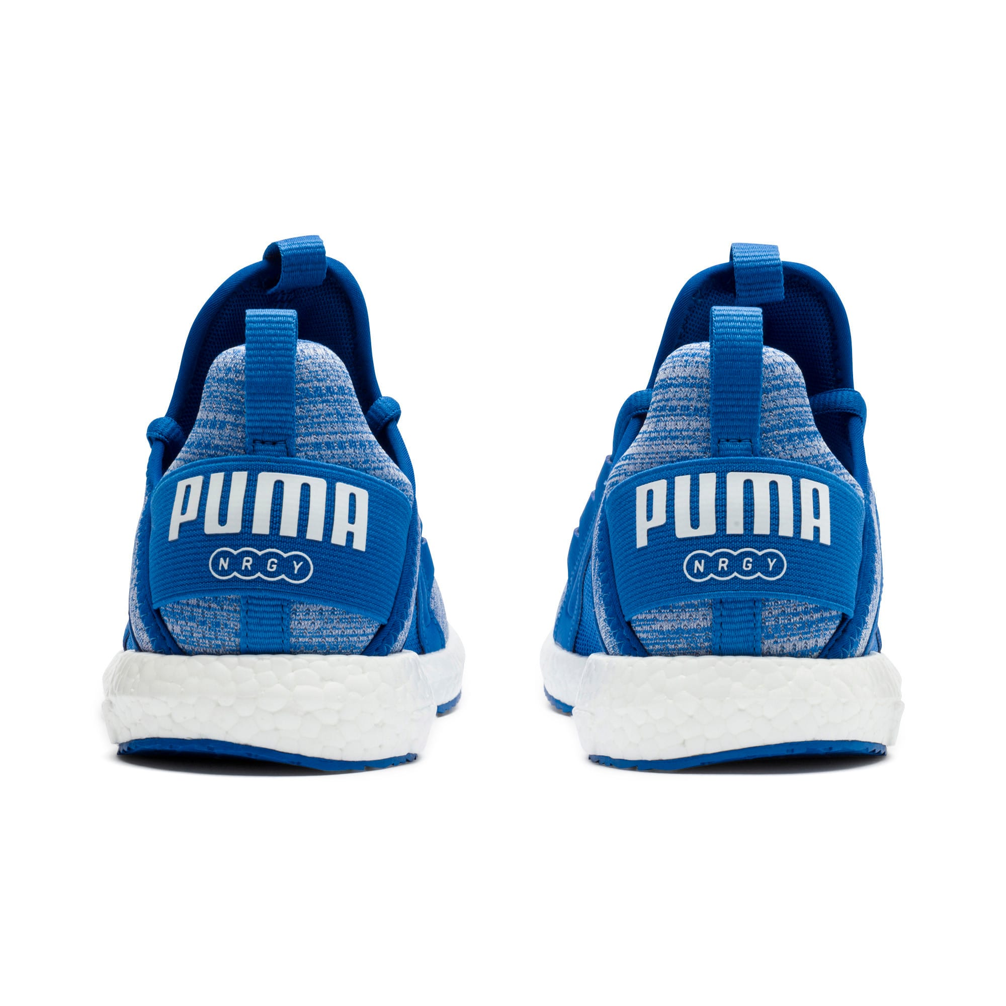 Thumbnail 4 of Mega NRGY Heather Kids' Trainers, Strong Blue-White, medium-IND