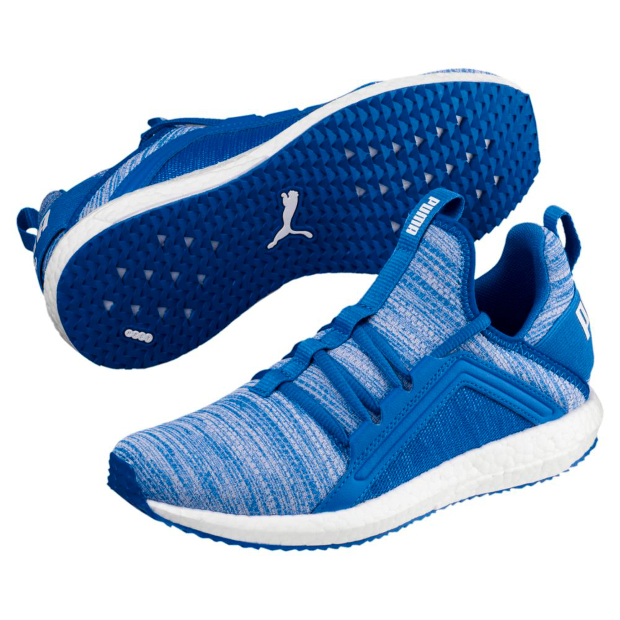 Thumbnail 2 of Mega NRGY Heather Kids' Trainers, Strong Blue-White, medium-IND