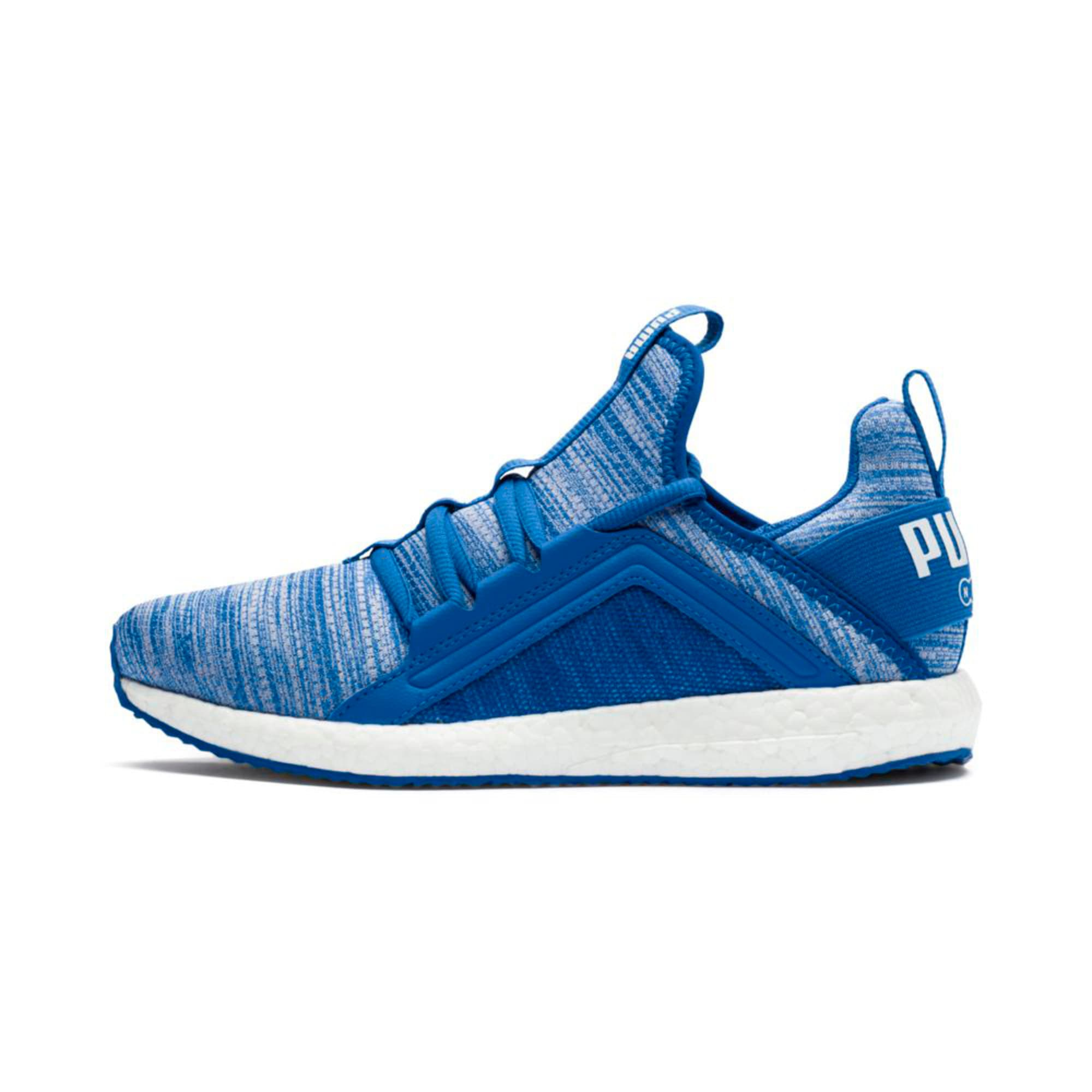 Thumbnail 1 of Mega NRGY Heather Kids' Trainers, Strong Blue-White, medium-IND
