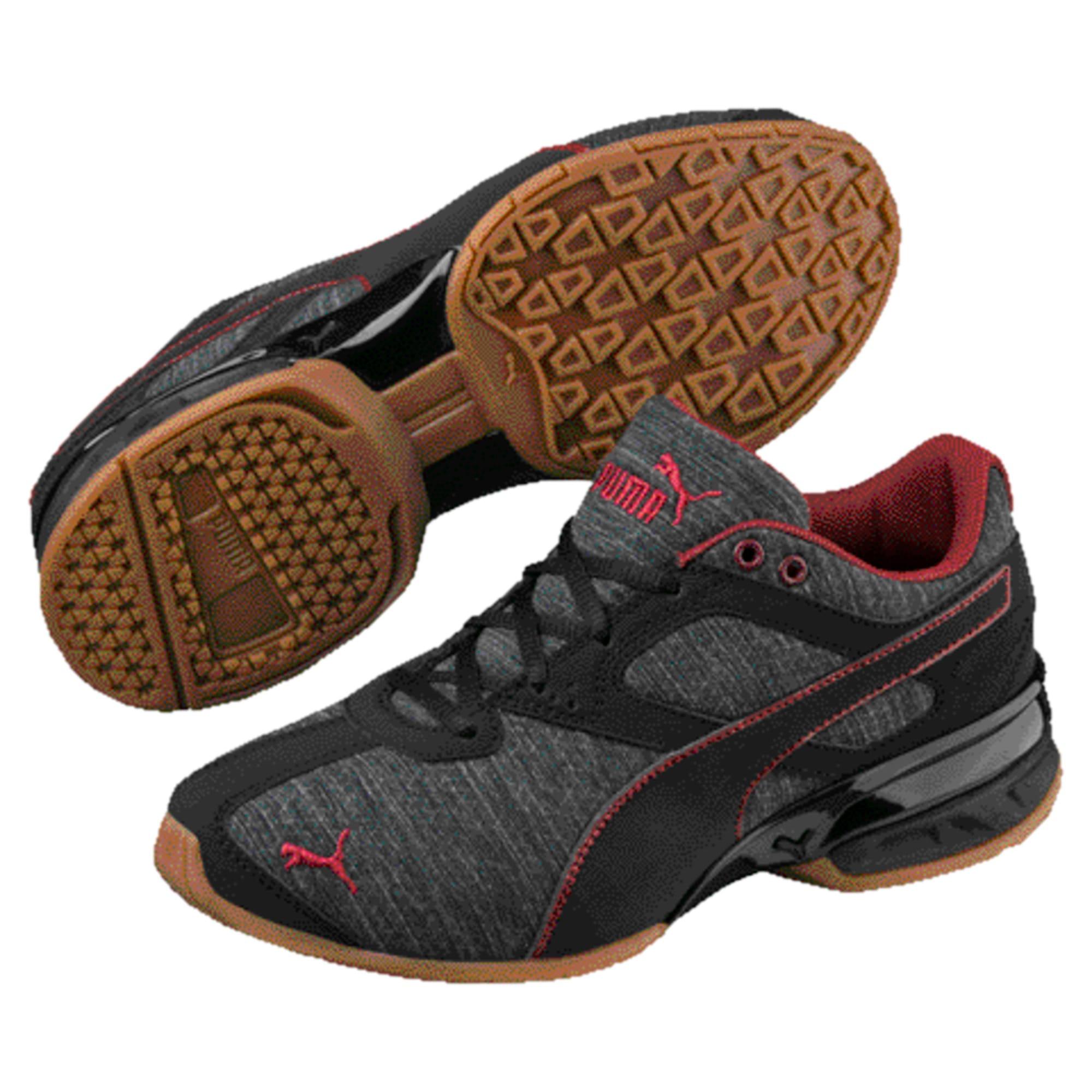 Thumbnail 1 of Tazon 6 Heather Rip Little Kids' Shoes, Iron Gate-Black-Pomegranate, medium