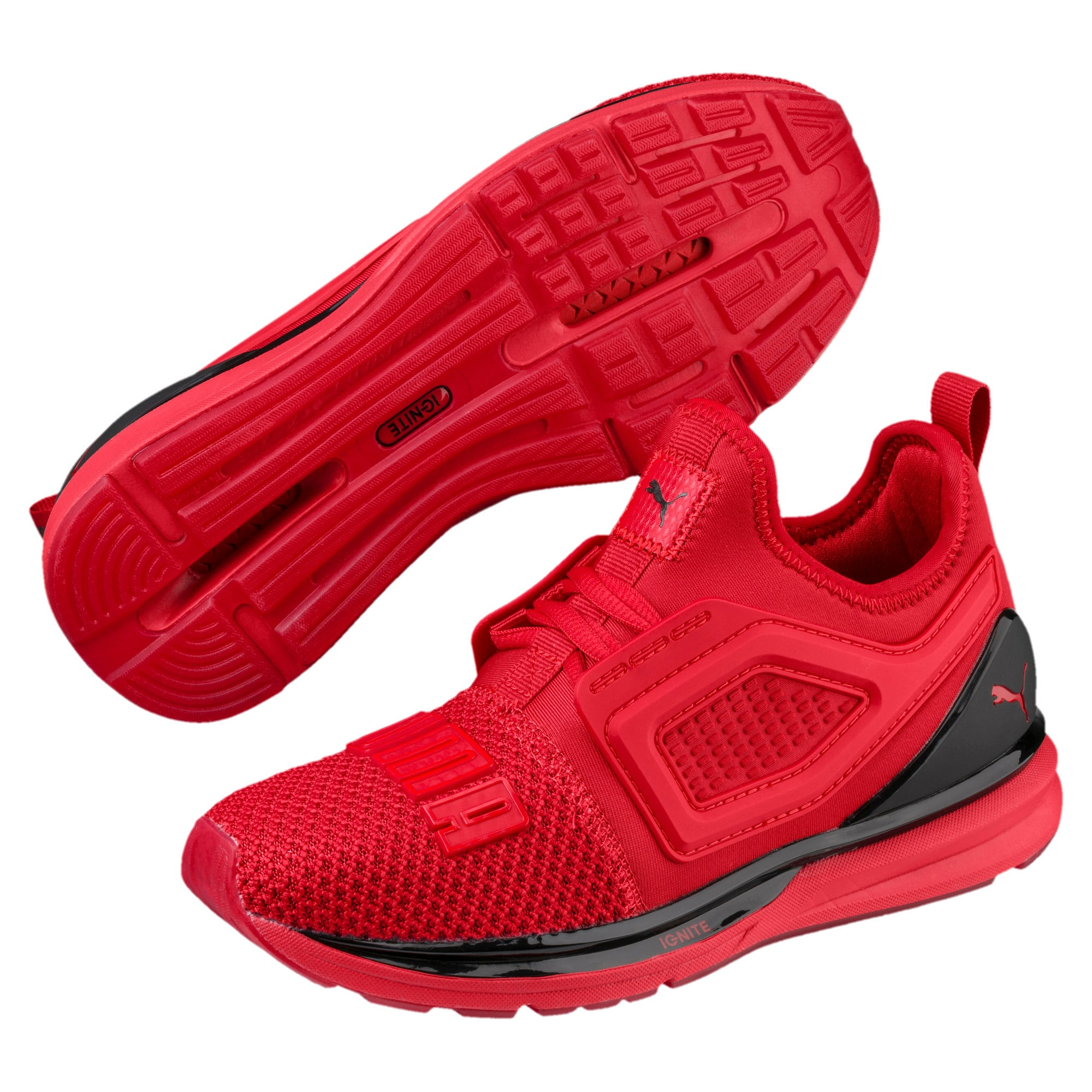 IGNITE Limitless 2 Kids' Trainers, Ribbon Red-Puma Black, large-IND