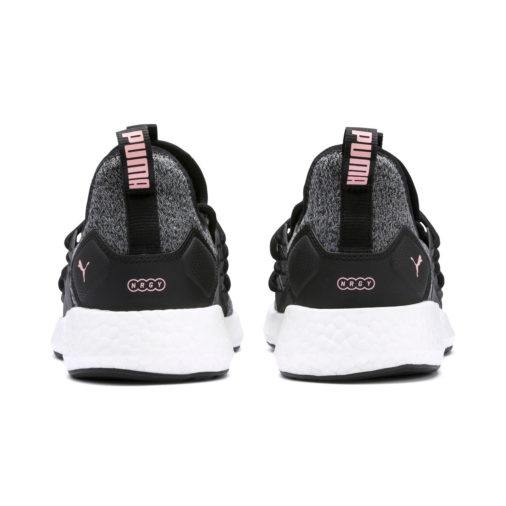 Thumbnail 4 of NRGY Neko Knit Women's Running Shoes, Puma Black-Bridal Rose, medium