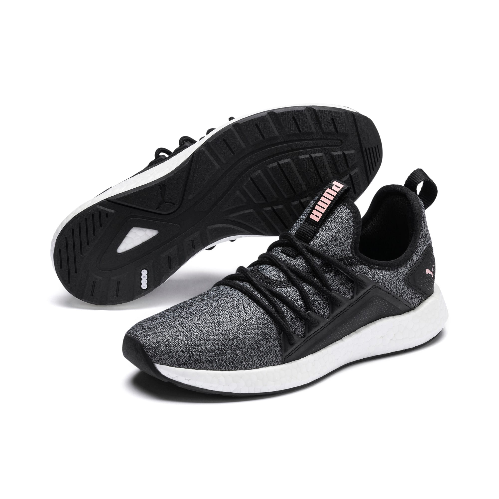 Thumbnail 3 of NRGY Neko Knit Women's Running Shoes, Puma Black-Bridal Rose, medium