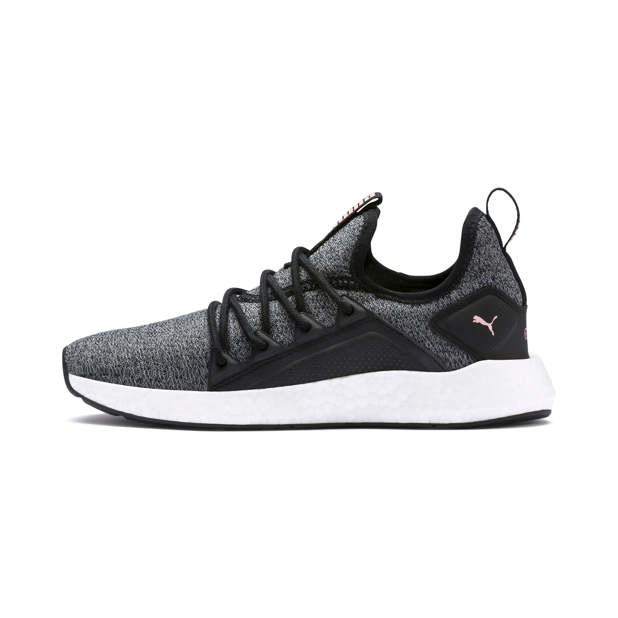 Thumbnail 1 of NRGY Neko Knit Women's Running Shoes, Puma Black-Bridal Rose, medium