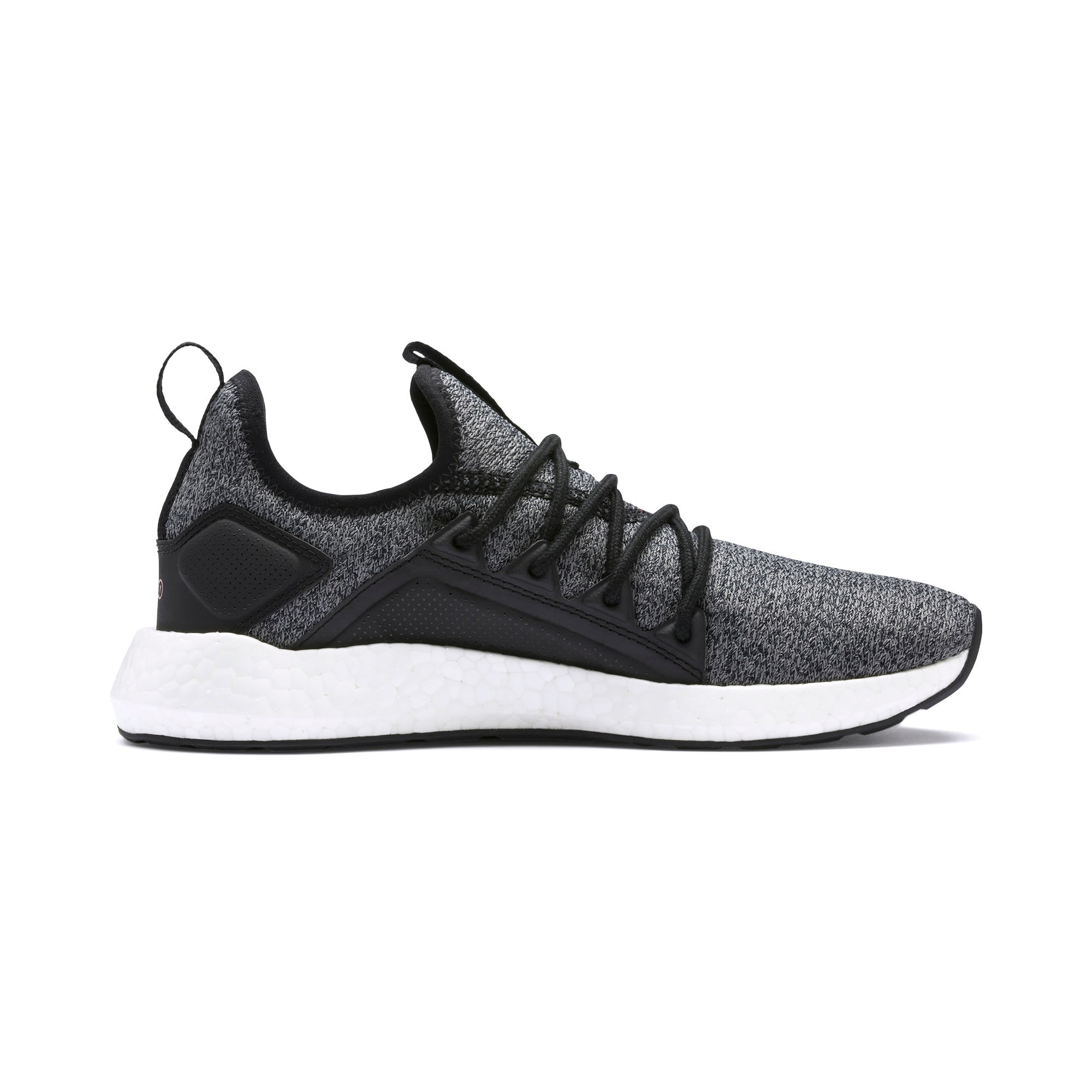 Thumbnail 6 of NRGY Neko Knit Women's Running Shoes, Puma Black-Bridal Rose, medium