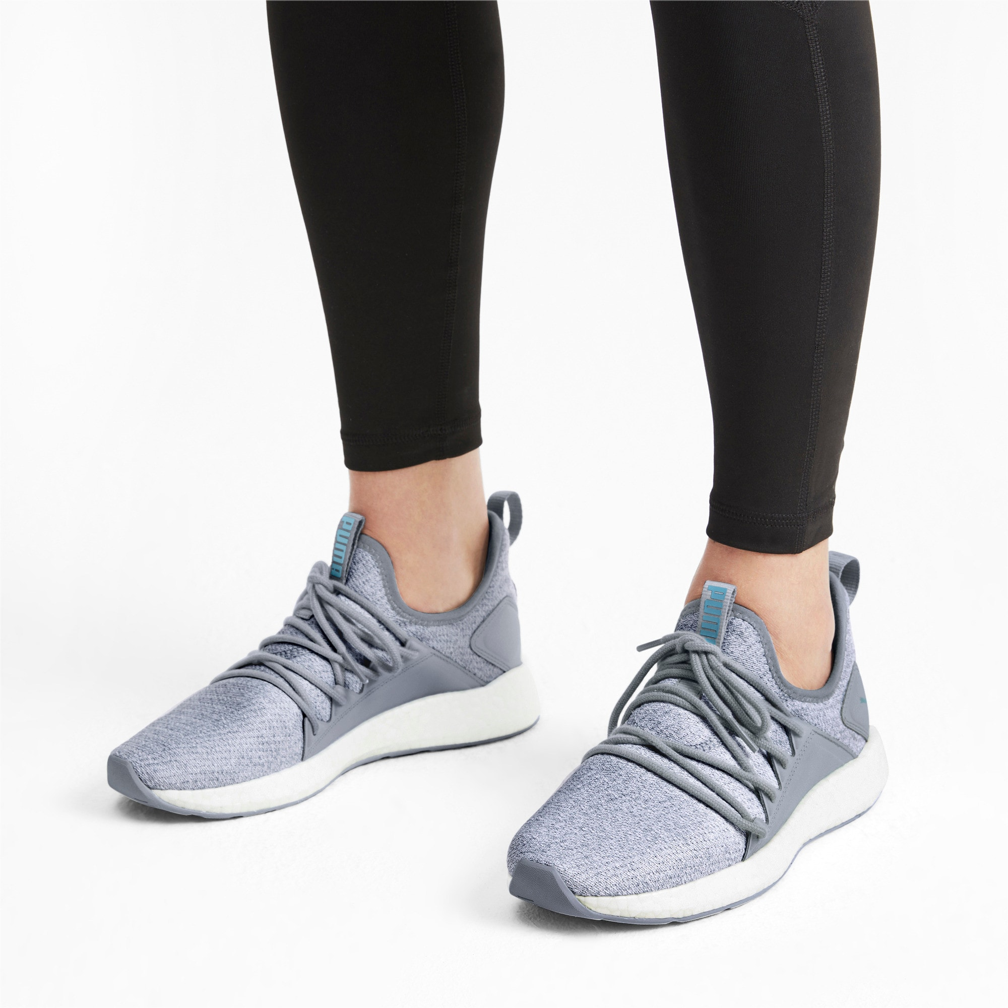 Thumbnail 2 of NRGY Neko Knit Women's Running Shoes, Quarry, medium-IND