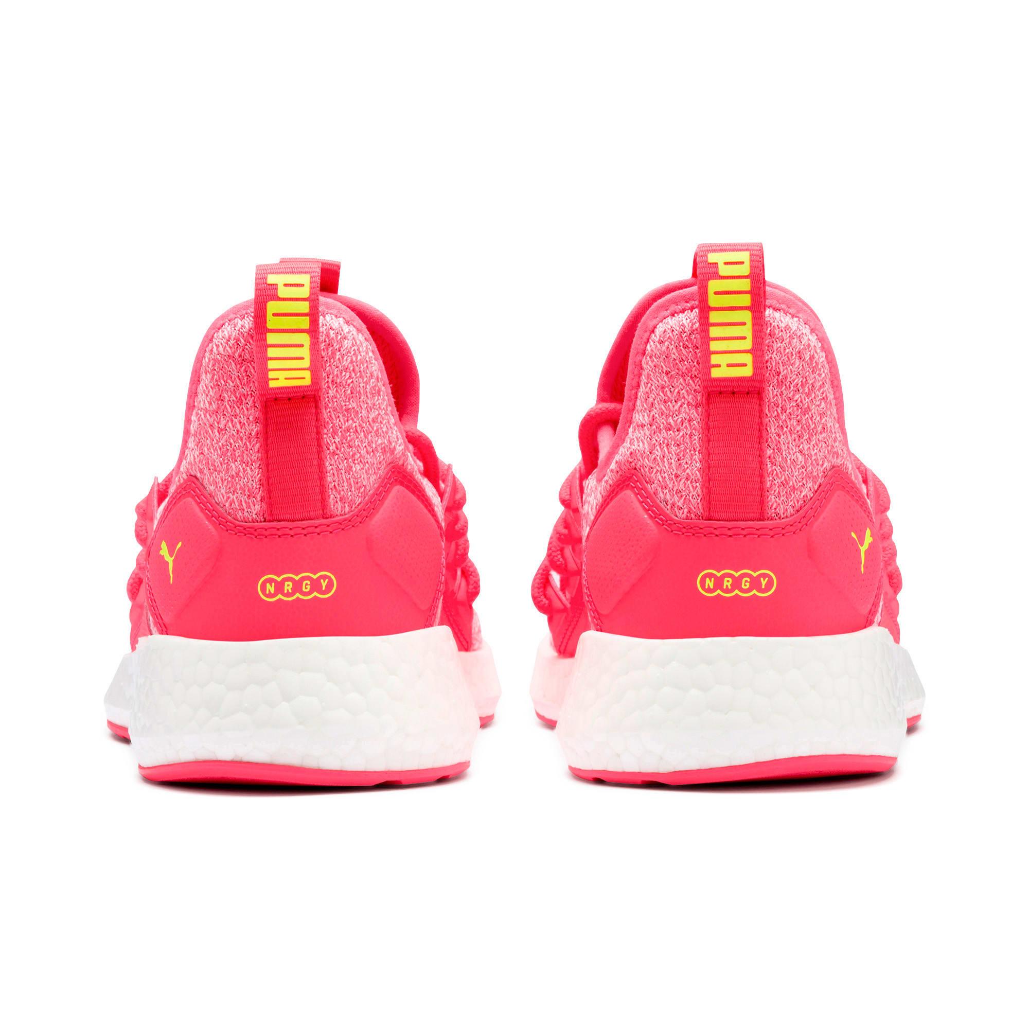 Thumbnail 4 of NRGY Neko Knit Women's Running Shoes, Pink Alert-Puma White, medium