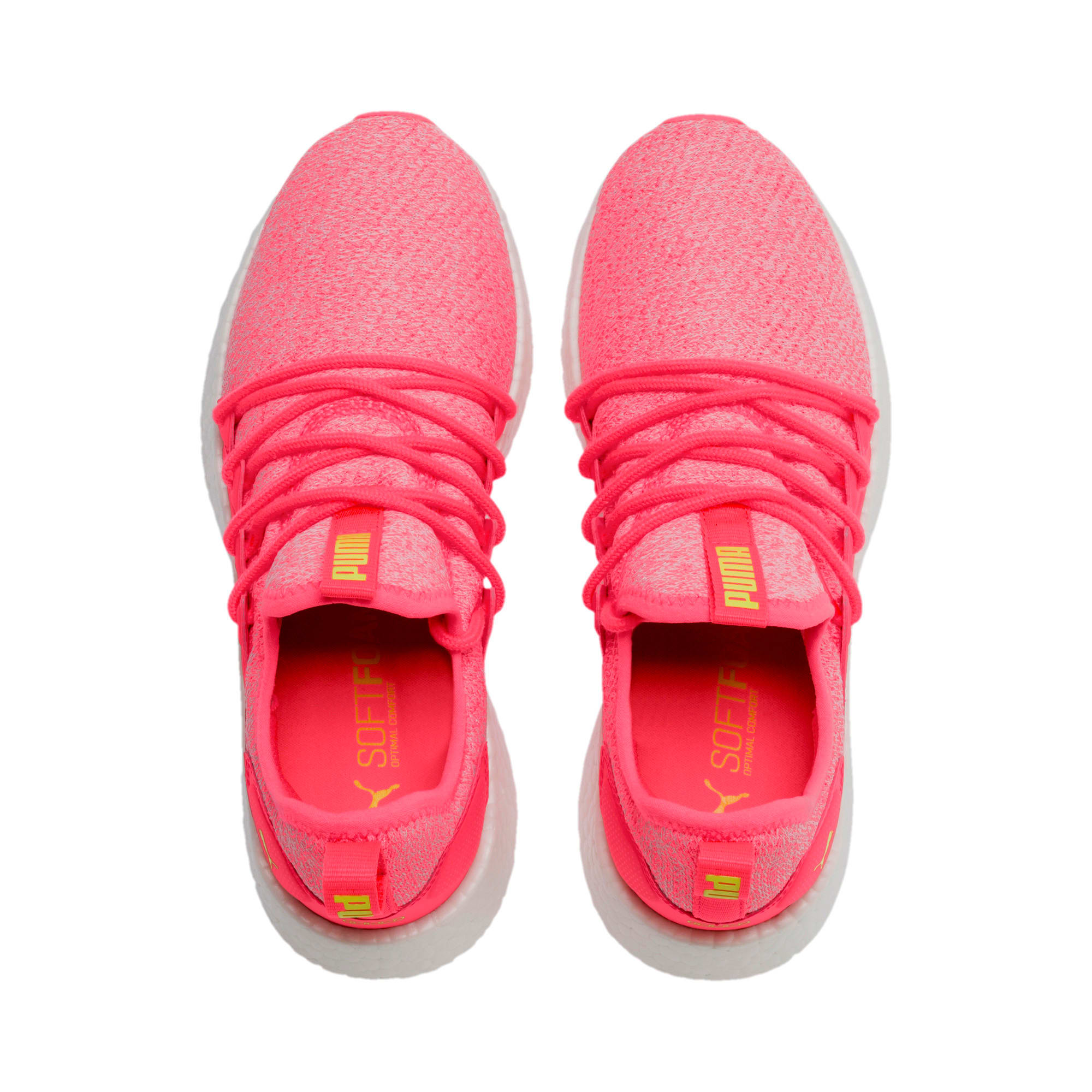 Thumbnail 4 of NRGY Neko Knit Women's Running Shoes, Pink Alert-Puma White, medium-IND