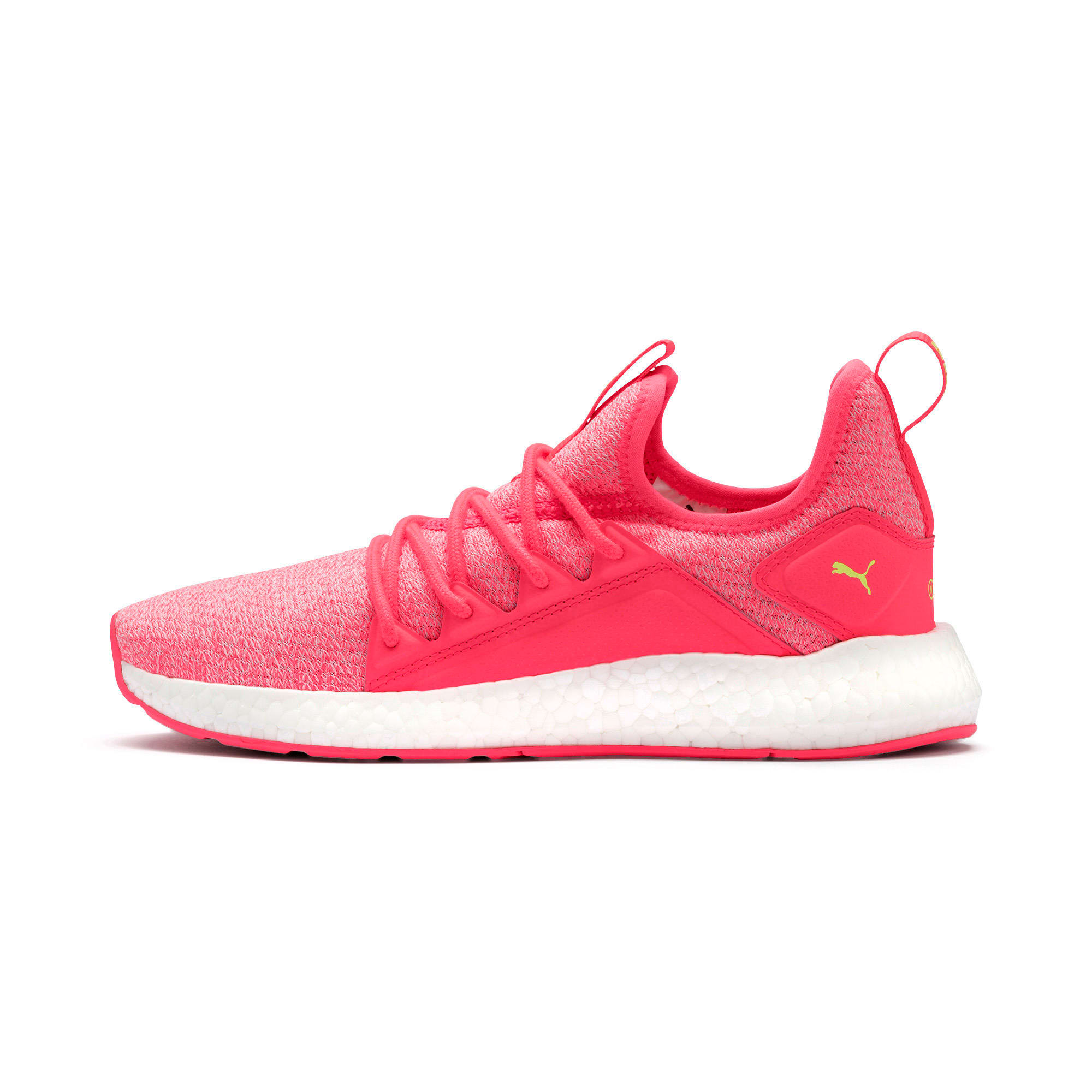 Thumbnail 1 of NRGY Neko Knit Women's Running Shoes, Pink Alert-Puma White, medium