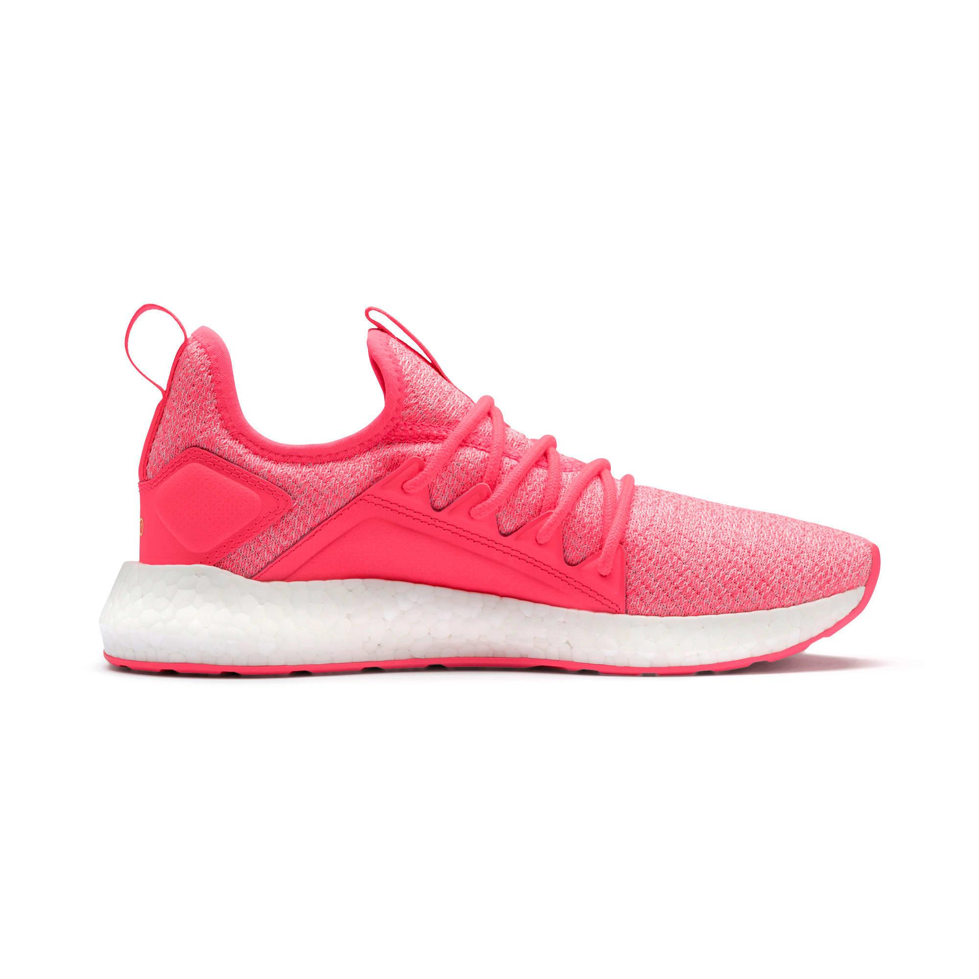 Thumbnail 6 of NRGY Neko Knit Women's Running Shoes, Pink Alert-Puma White, medium