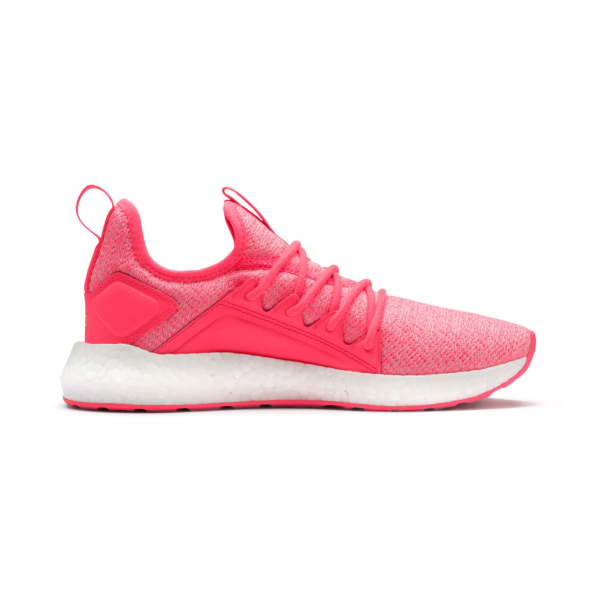 Thumbnail 7 of NRGY Neko Knit Women's Running Shoes, Pink Alert-Puma White, medium-IND