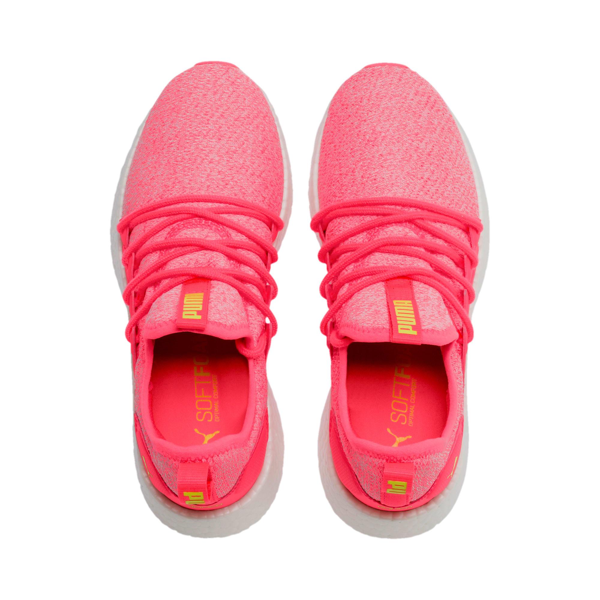 Thumbnail 7 of NRGY Neko Knit Women's Running Shoes, Pink Alert-Puma White, medium