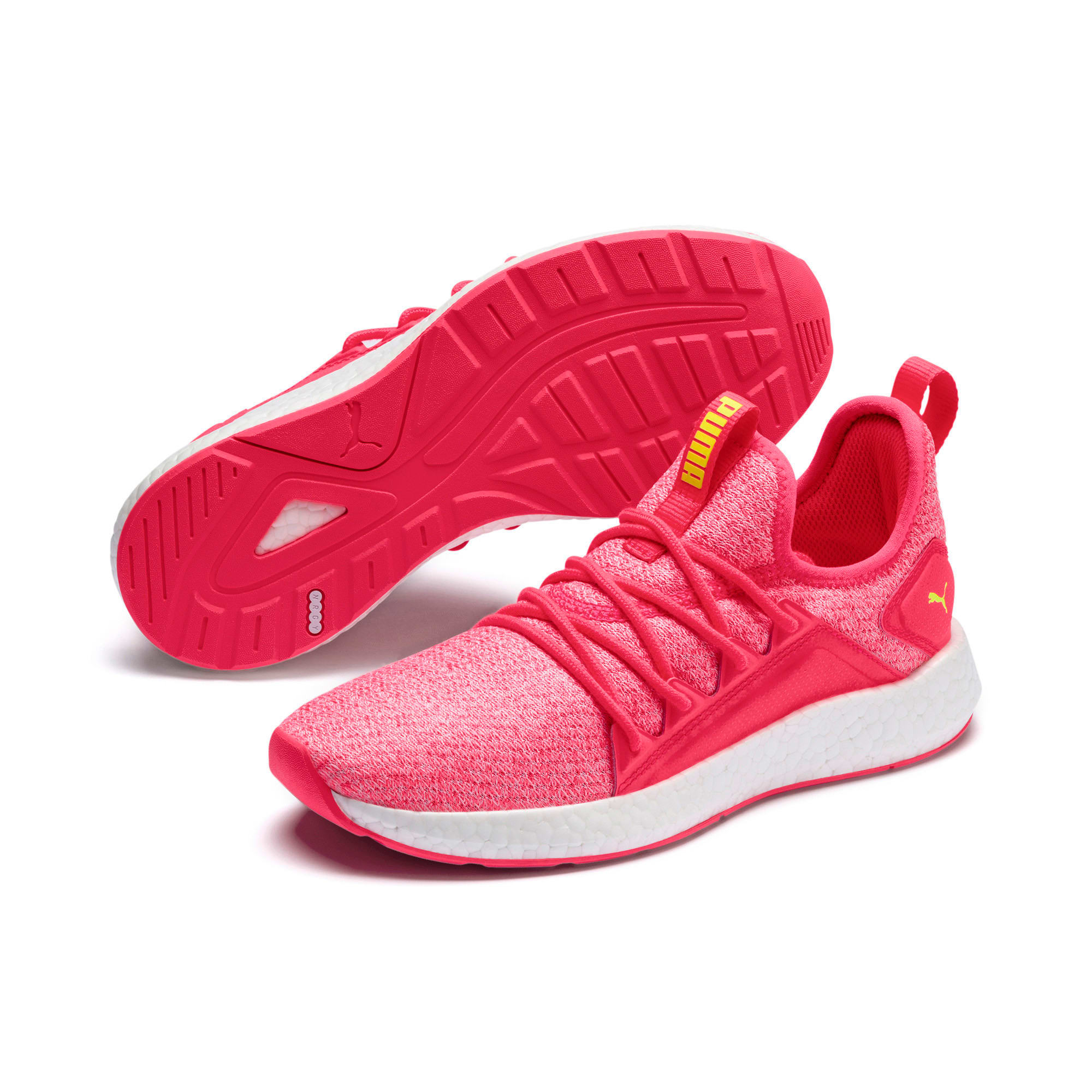 Thumbnail 8 of NRGY Neko Knit Women's Running Shoes, Pink Alert-Puma White, medium-IND