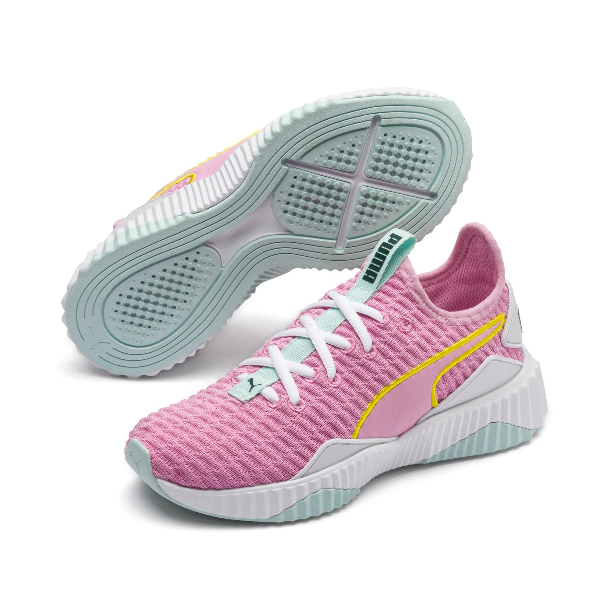 Thumbnail 2 of Defy sneakers voor meisjes, Pale Pink-White-Fair Aqua, medium
