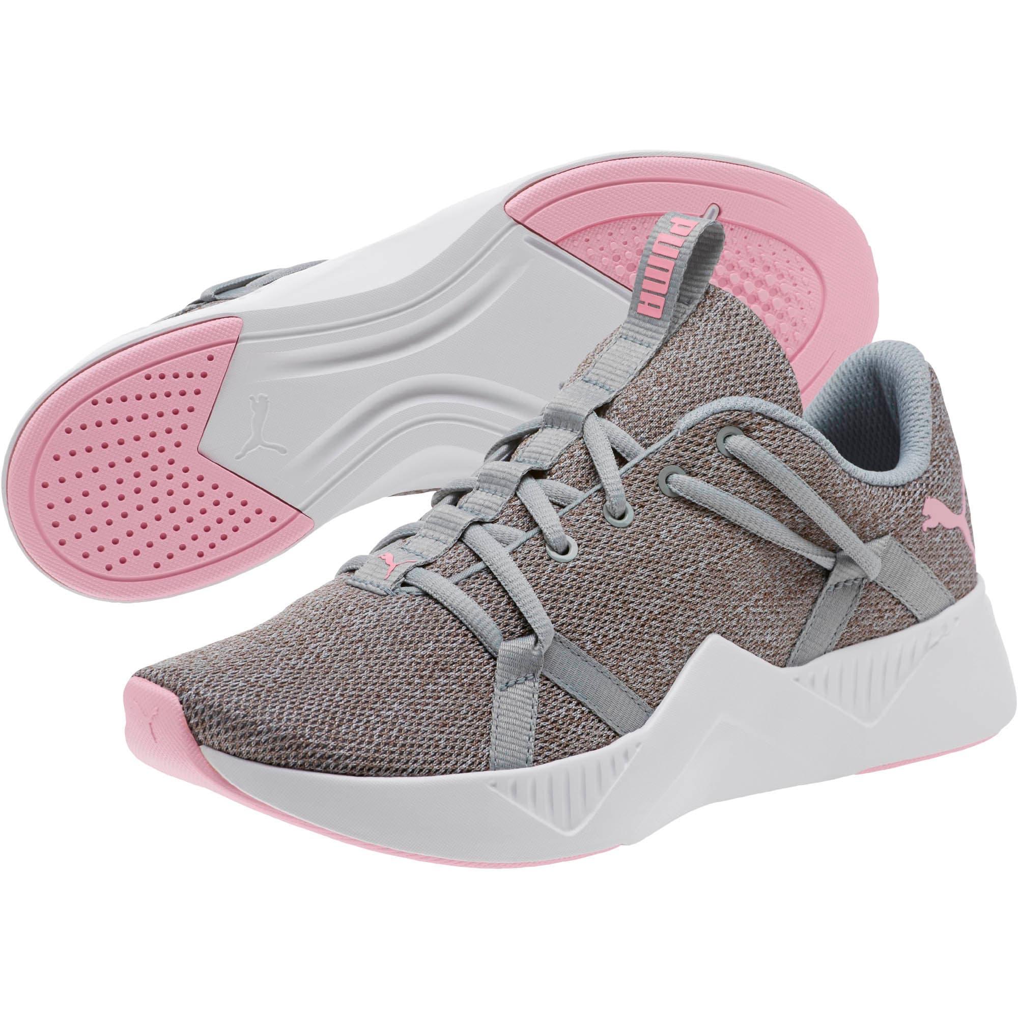 Thumbnail 2 of Incite Knit Women's Training Shoes, Quarry-Pale Pink, medium