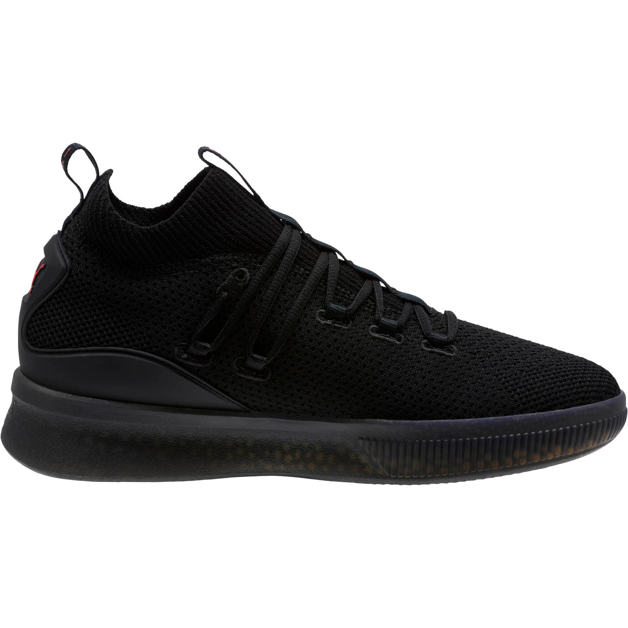 Thumbnail 4 of Clyde Court Core Basketball Shoes, Puma Black-High Risk Red, medium