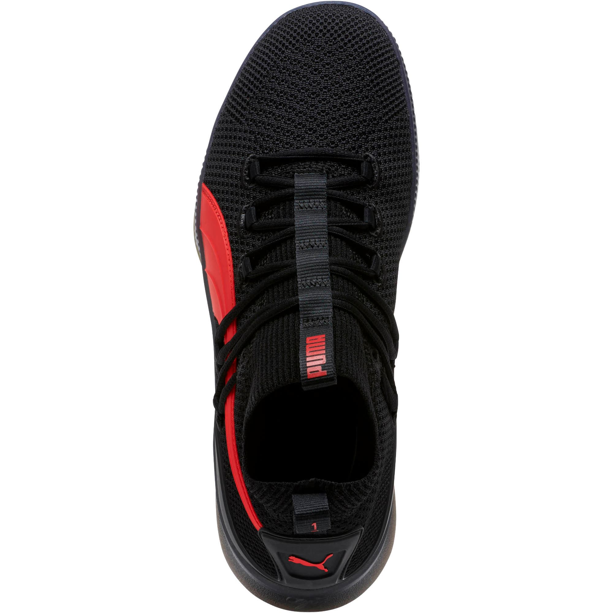 Thumbnail 5 of Clyde Court Core Basketball Shoes, Puma Black-High Risk Red, medium