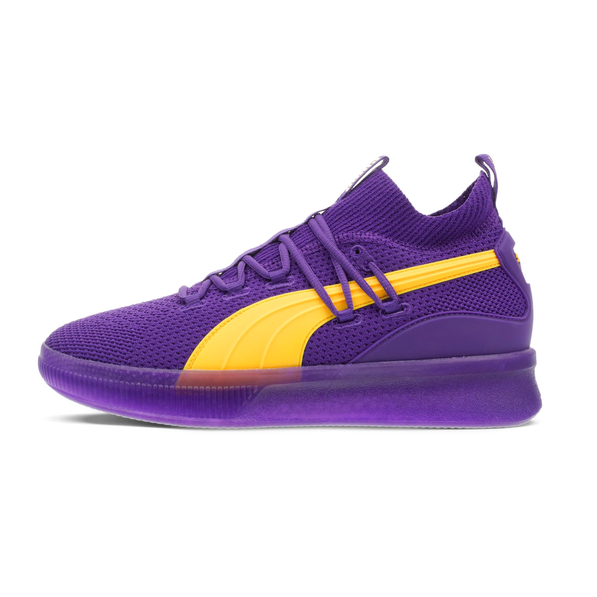 Thumbnail 1 of Clyde Court Core Basketball Shoes, Prism Violet, medium