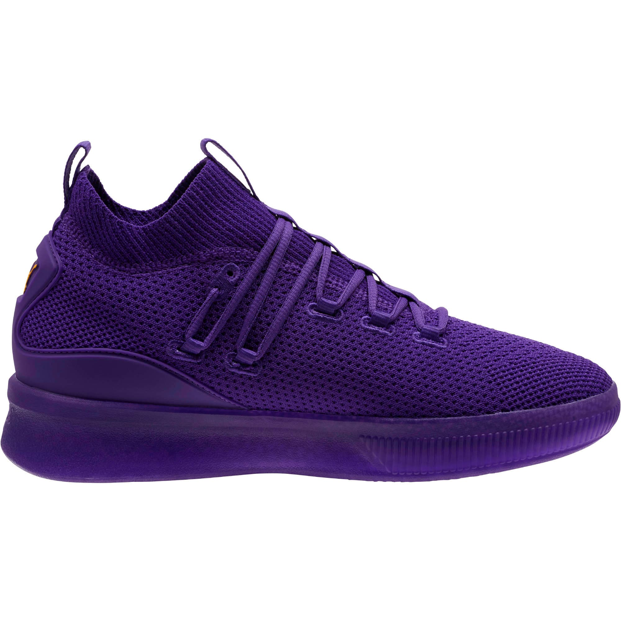 Thumbnail 4 of Clyde Court Core Basketball Shoes, Prism Violet, medium