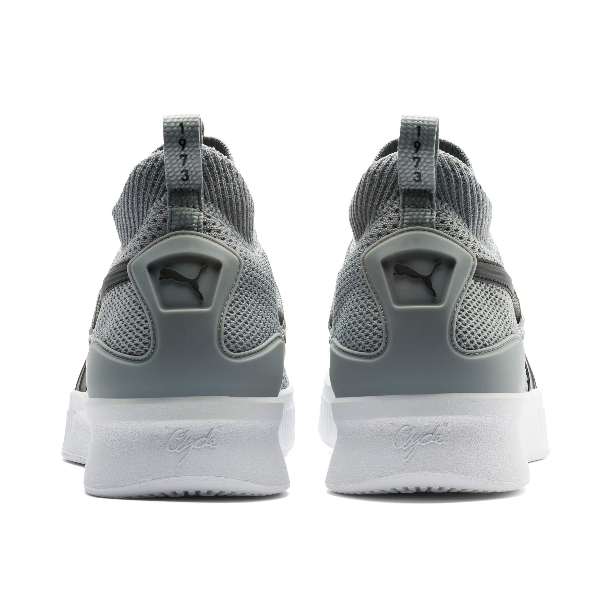 Thumbnail 3 of Clyde Court Core Basketball Shoes, Quarry-Puma Black, medium