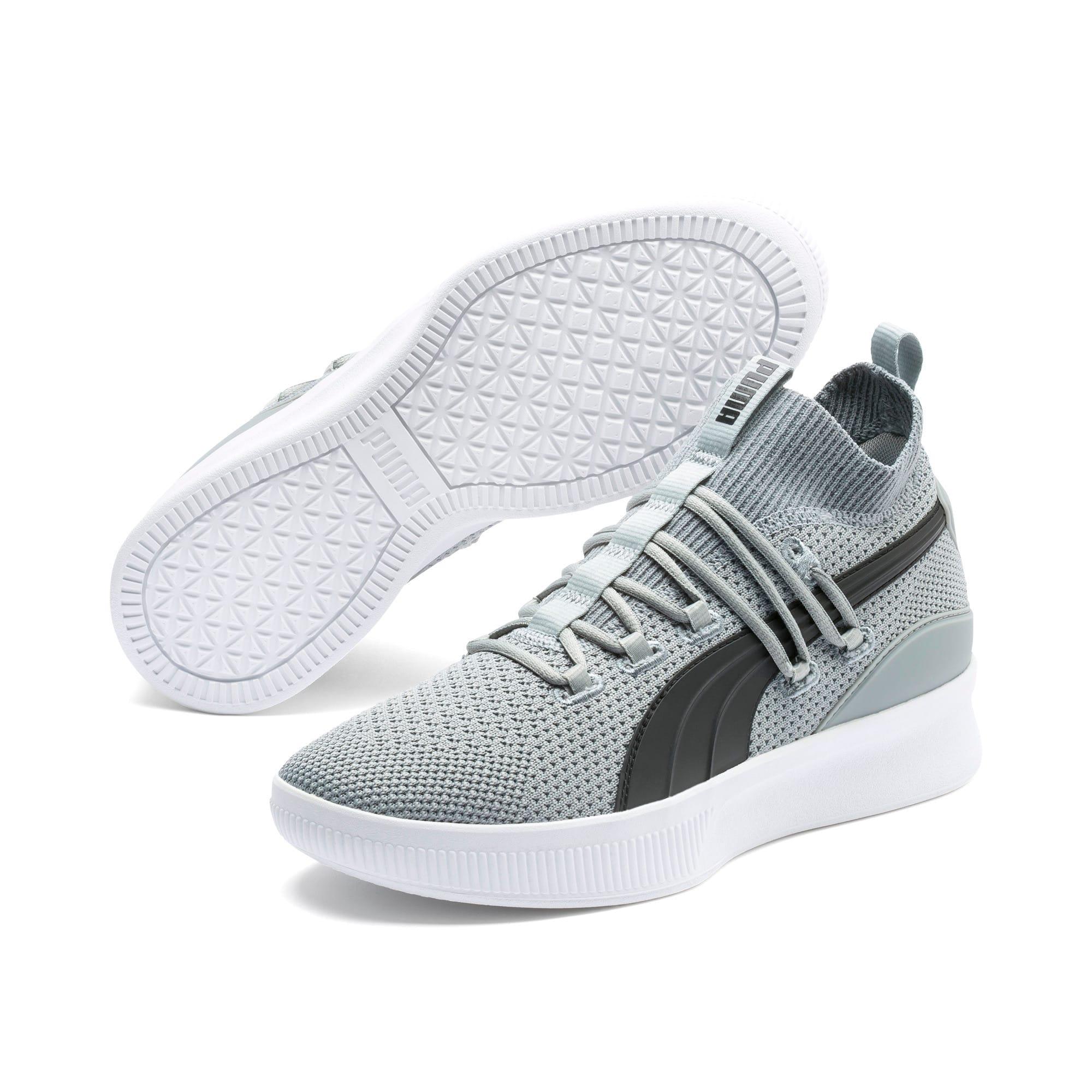 Thumbnail 2 of Clyde Court Core Basketball Shoes, Quarry-Puma Black, medium