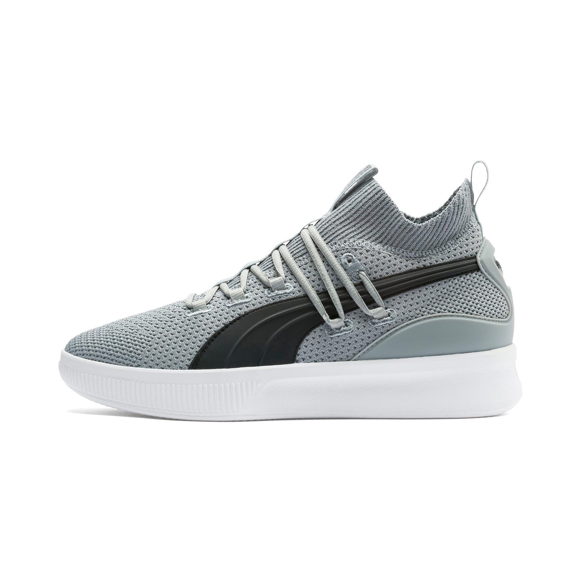 Thumbnail 1 of Clyde Court Core Basketball Shoes, Quarry-Puma Black, medium