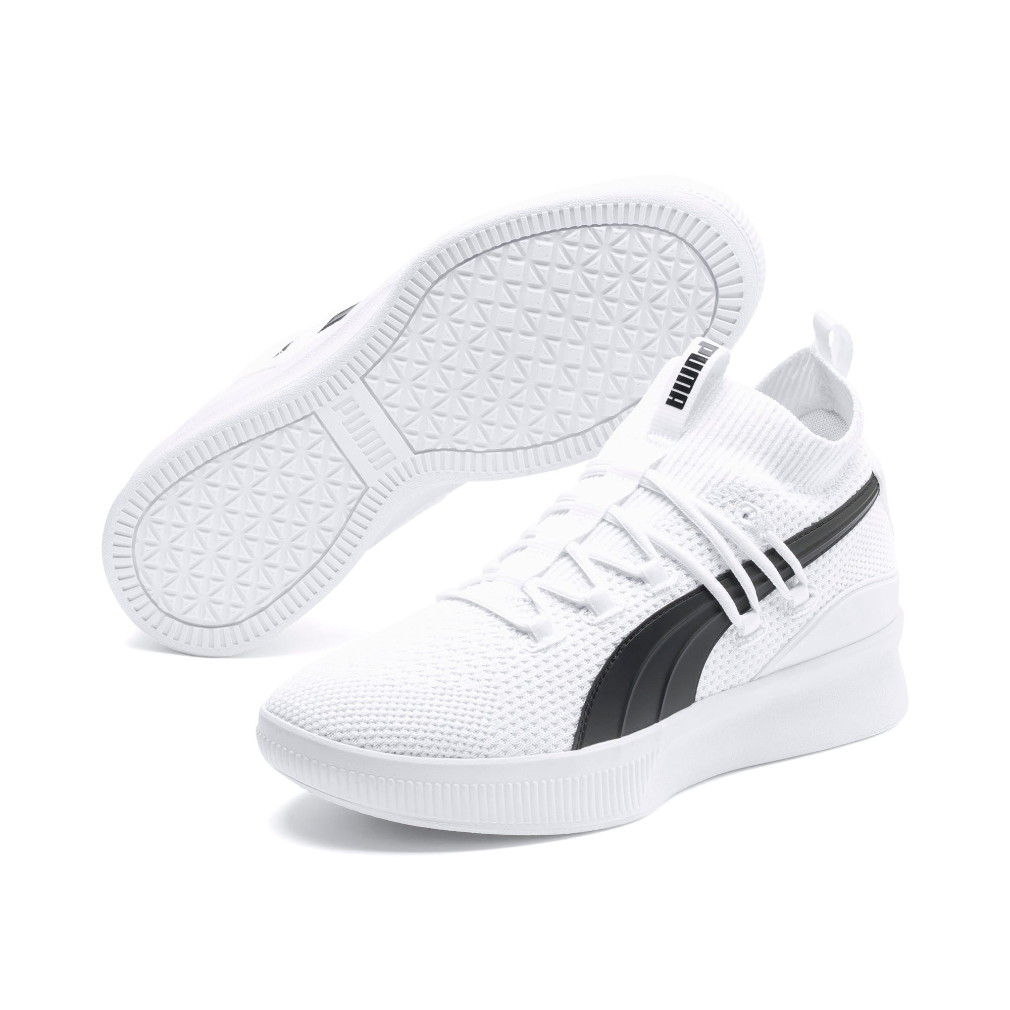 Thumbnail 2 of Clyde Court Core Basketball Shoes, Puma White, medium