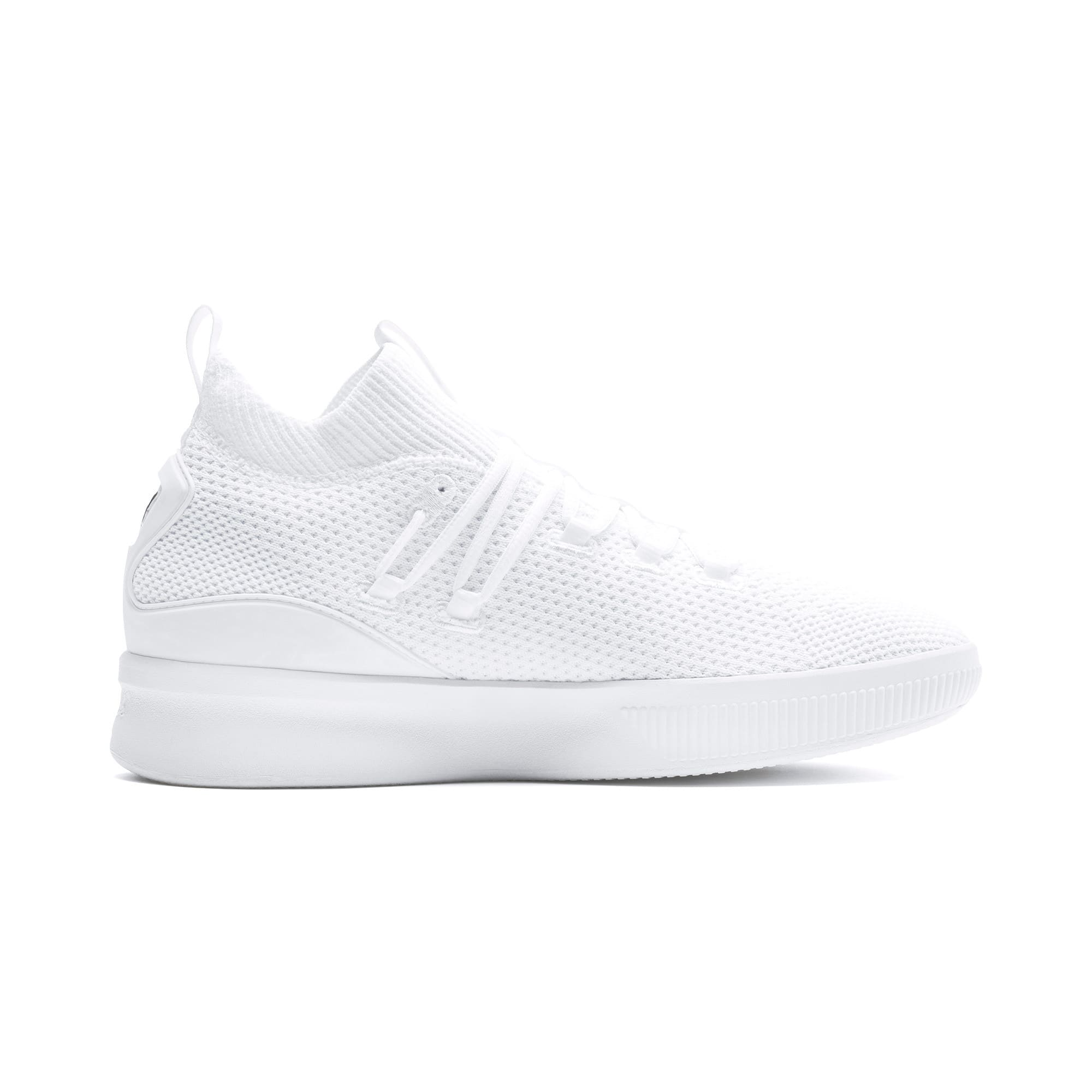 Thumbnail 5 of Clyde Court Core Basketball Shoes, Puma White, medium