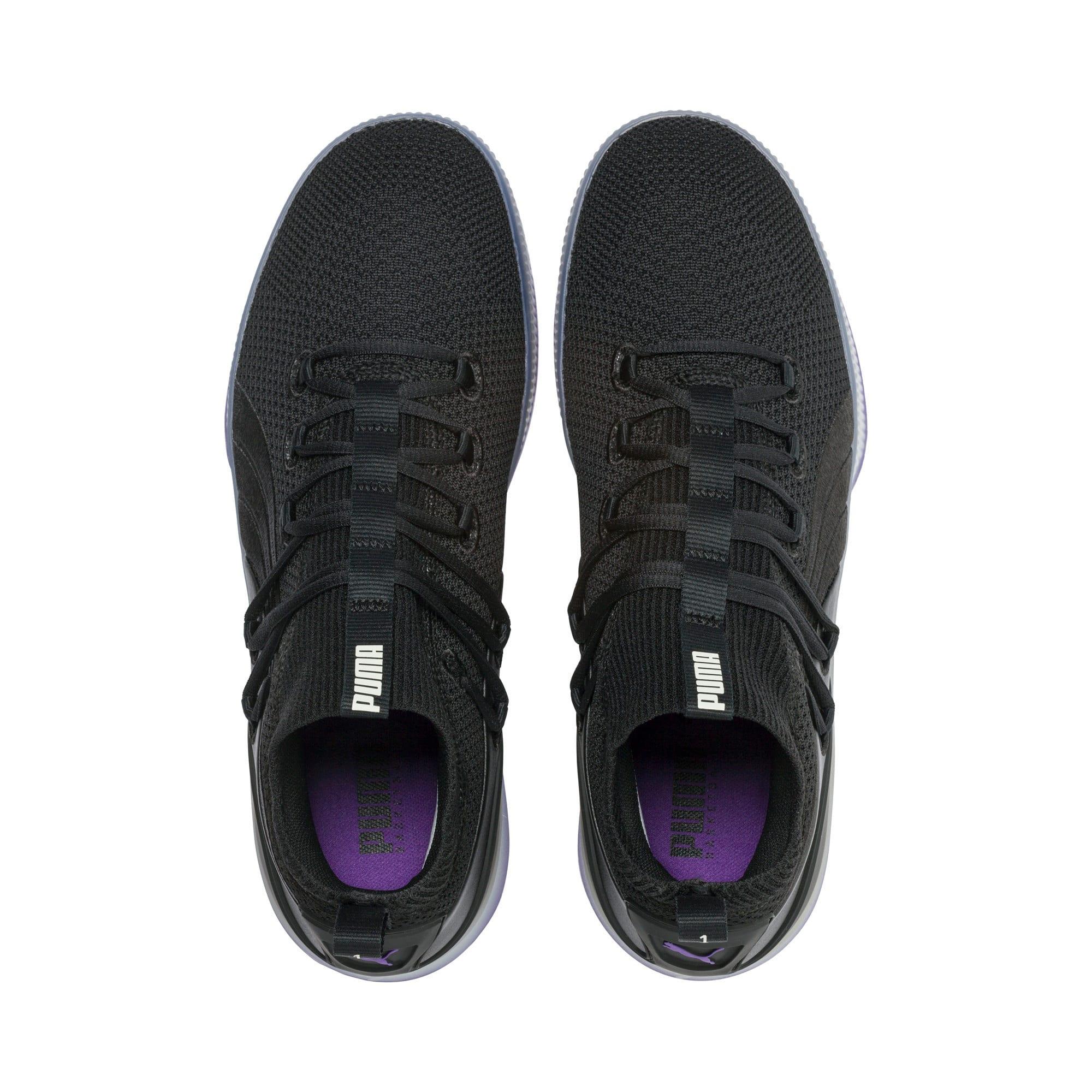 Thumbnail 6 van Clyde Court Disrupt basketball-schoenen voor mannen, Puma Black-ELECTRIC PURPLE, medium